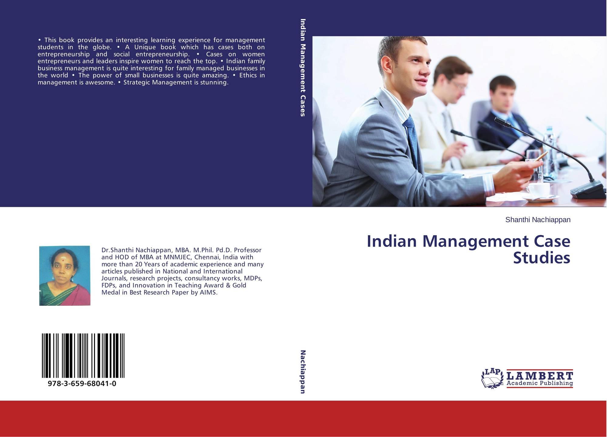Indian Management Case Studies, 978-3-659-68041-0