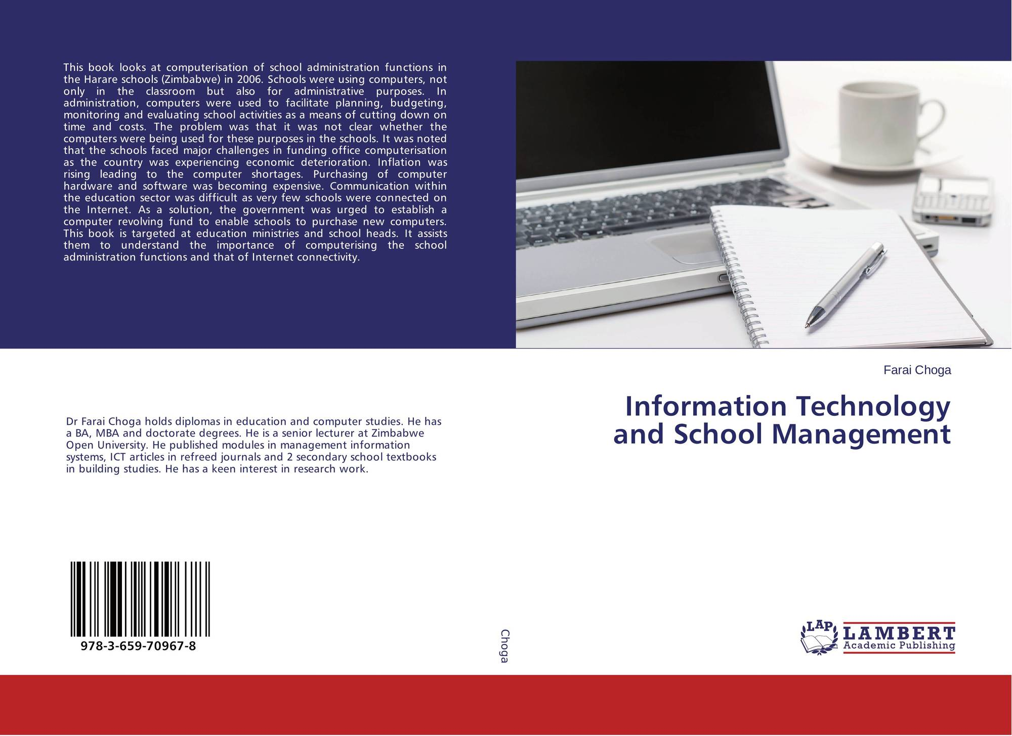 Information Technology Management: Information Technology And School Management, 978-3-659