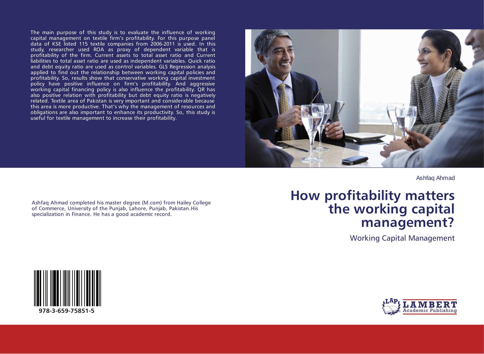 analysis of working capital management Vedavinayagam ganesan 2 a wide variation in the wcm efficiency [6] and there is consistency in the approach of the working capital management within any given.