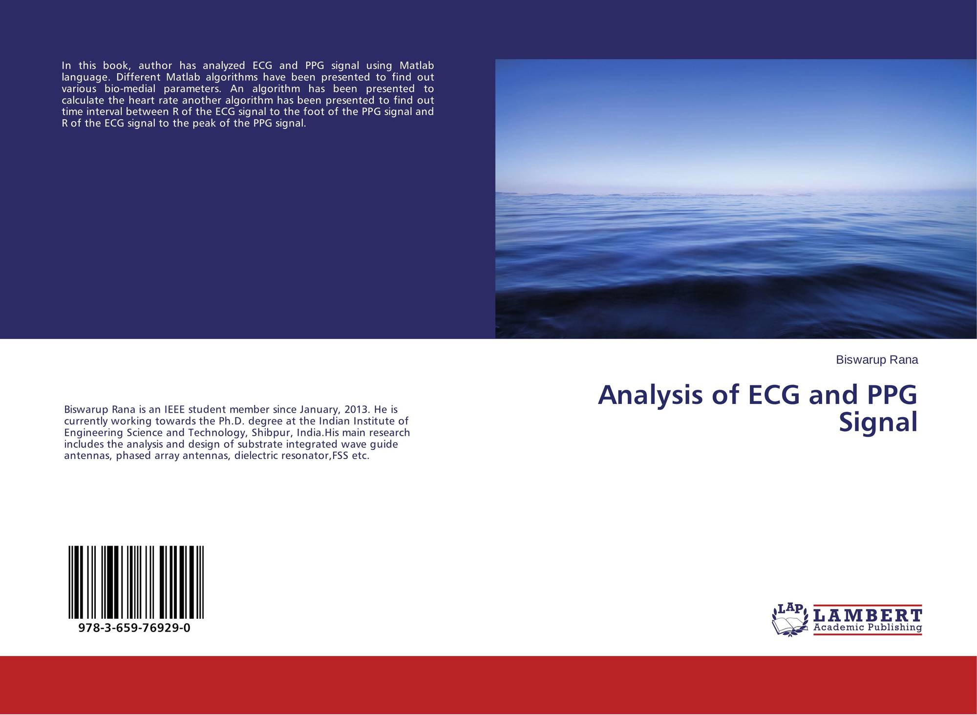 Analysis of ECG and PPG Signal, 978-3-659-76929-0