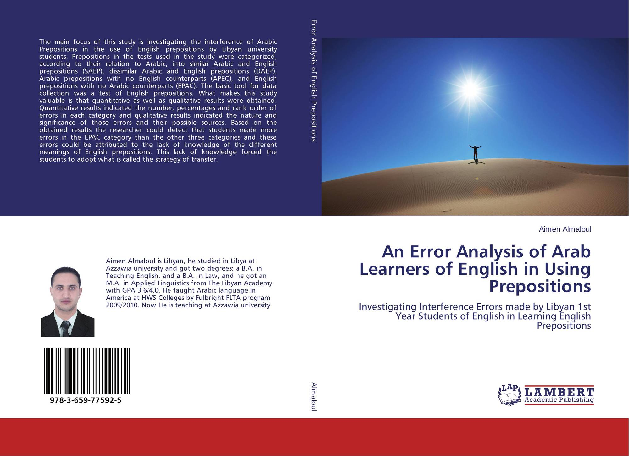 error analysis of english Error analysis, however, does not just involve analysis of learners' correct english is the home language of only a very small minority of the learners in.