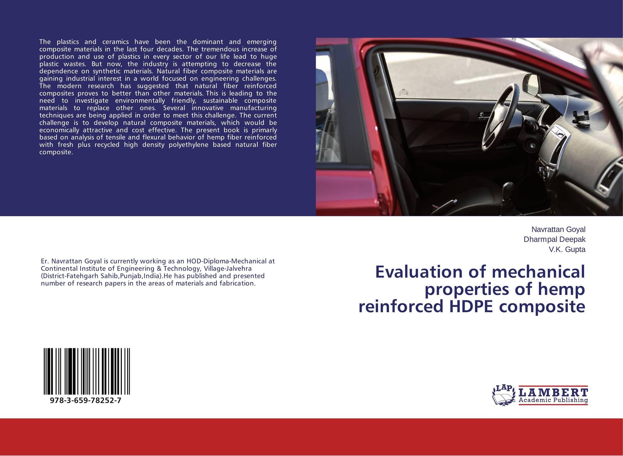 Evaluation of mechanical properties of hemp reinforced HDPE