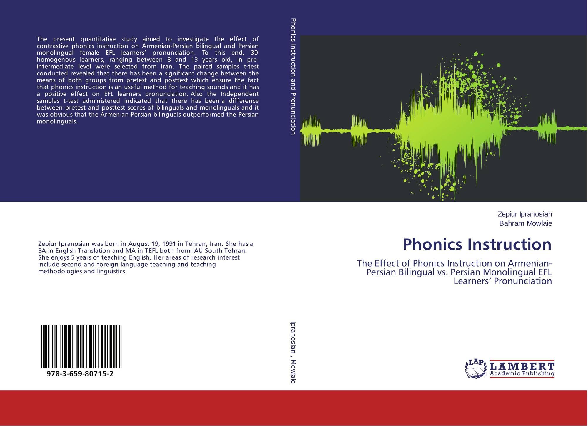 Phonics Instruction 978 3 659 80715 2 365980715x 9783659807152 By