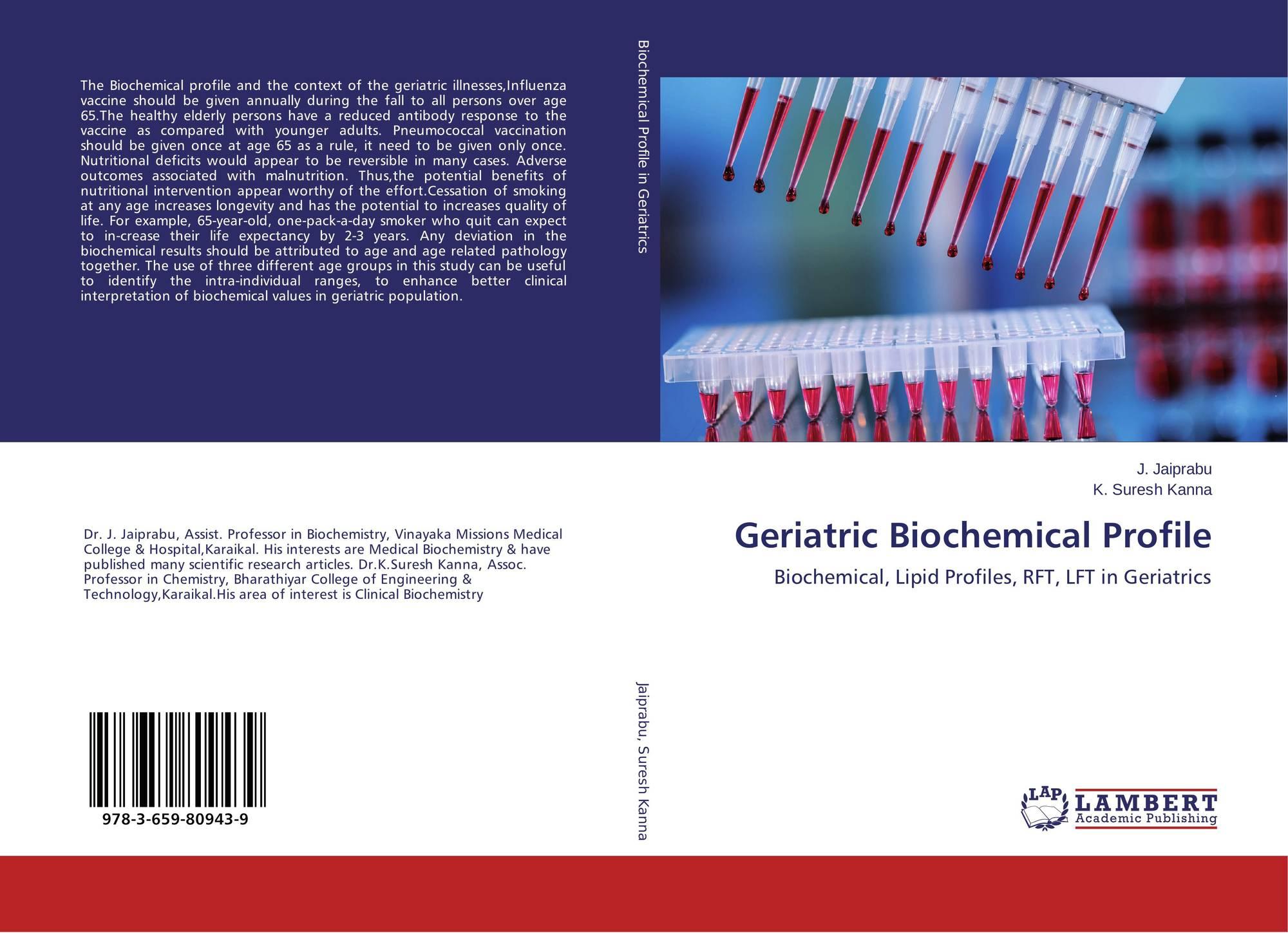 search results for lipid profile bookcover of geriatric biochemical profile