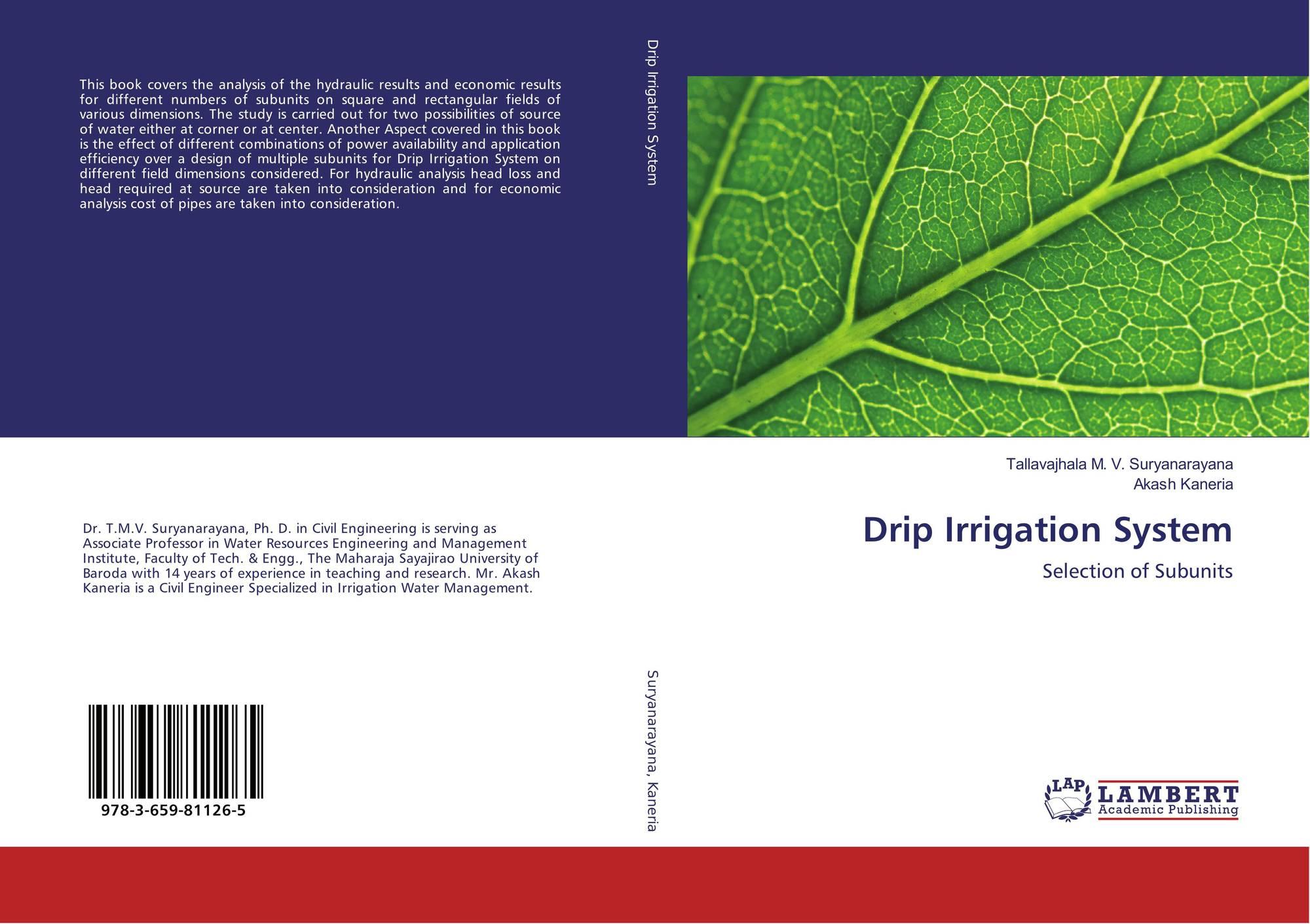 Drip Irrigation System, 978-3-659-81126-5, 3659811262