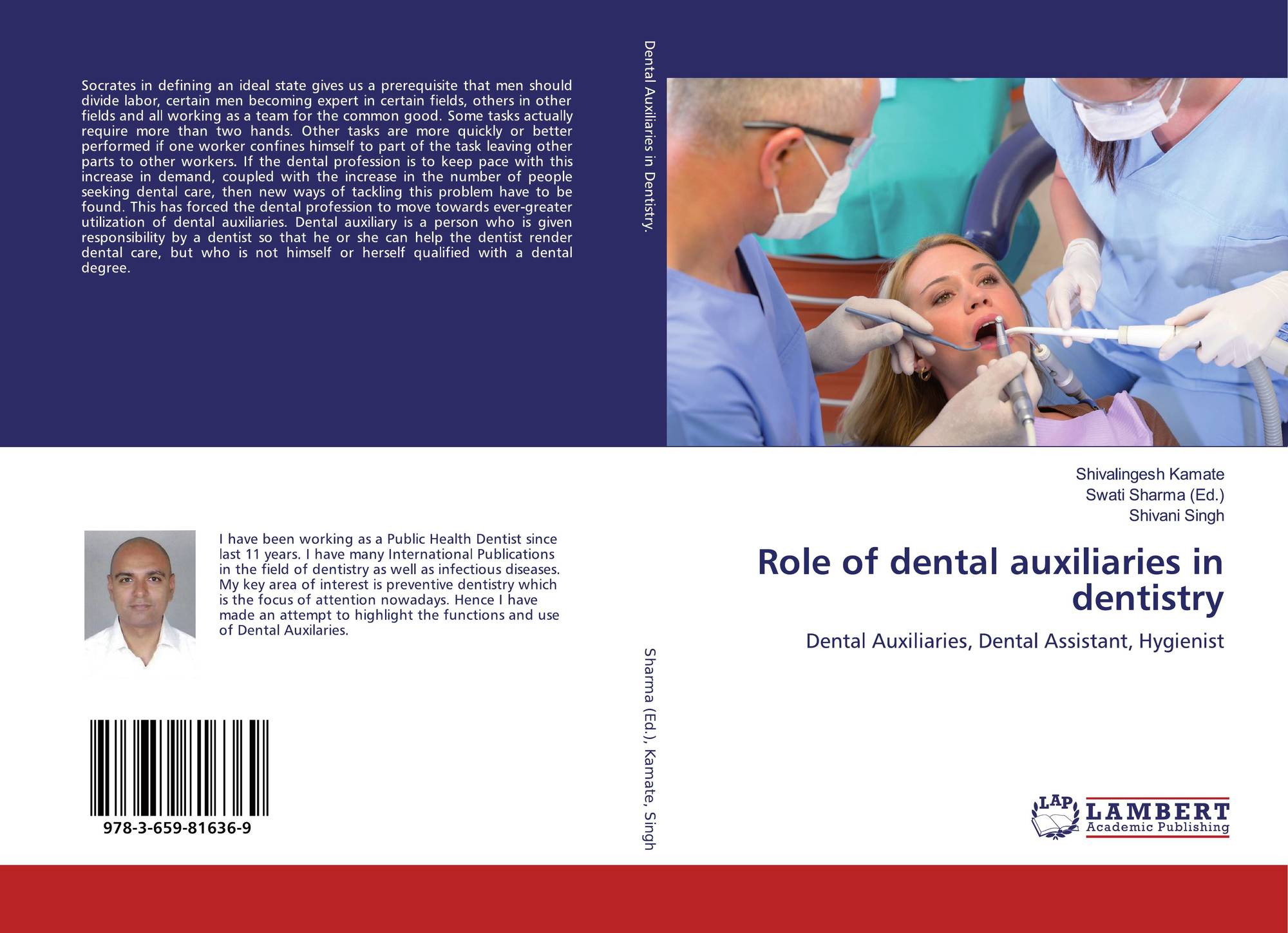 Role of dental auxiliaries in dentistry, 978-3-659-81636-9