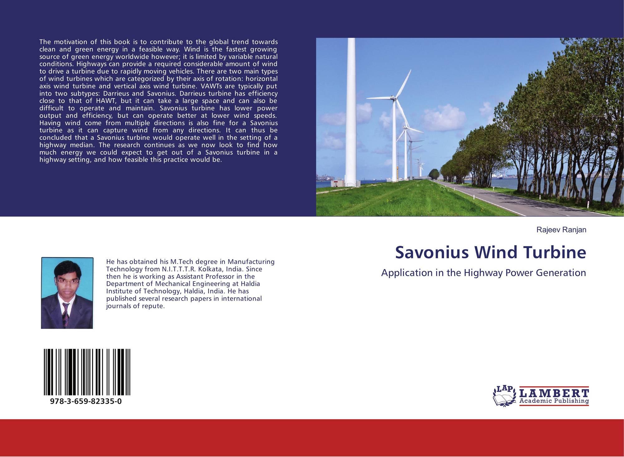 Savonius Wind Turbine, 978-3-659-82335-0, 365982335X