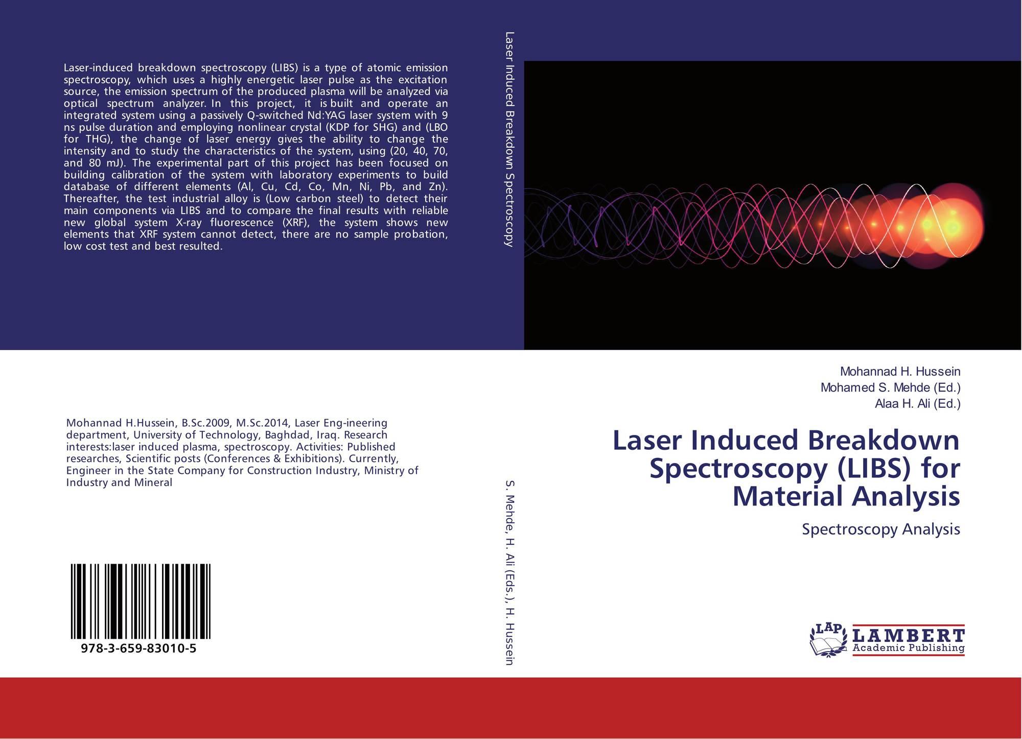 spectroscopy breakdown The data represent laser-induced breakdown spectroscopy (libs) emission in  200-940 nm wavelength range obtained from 68 samples of.