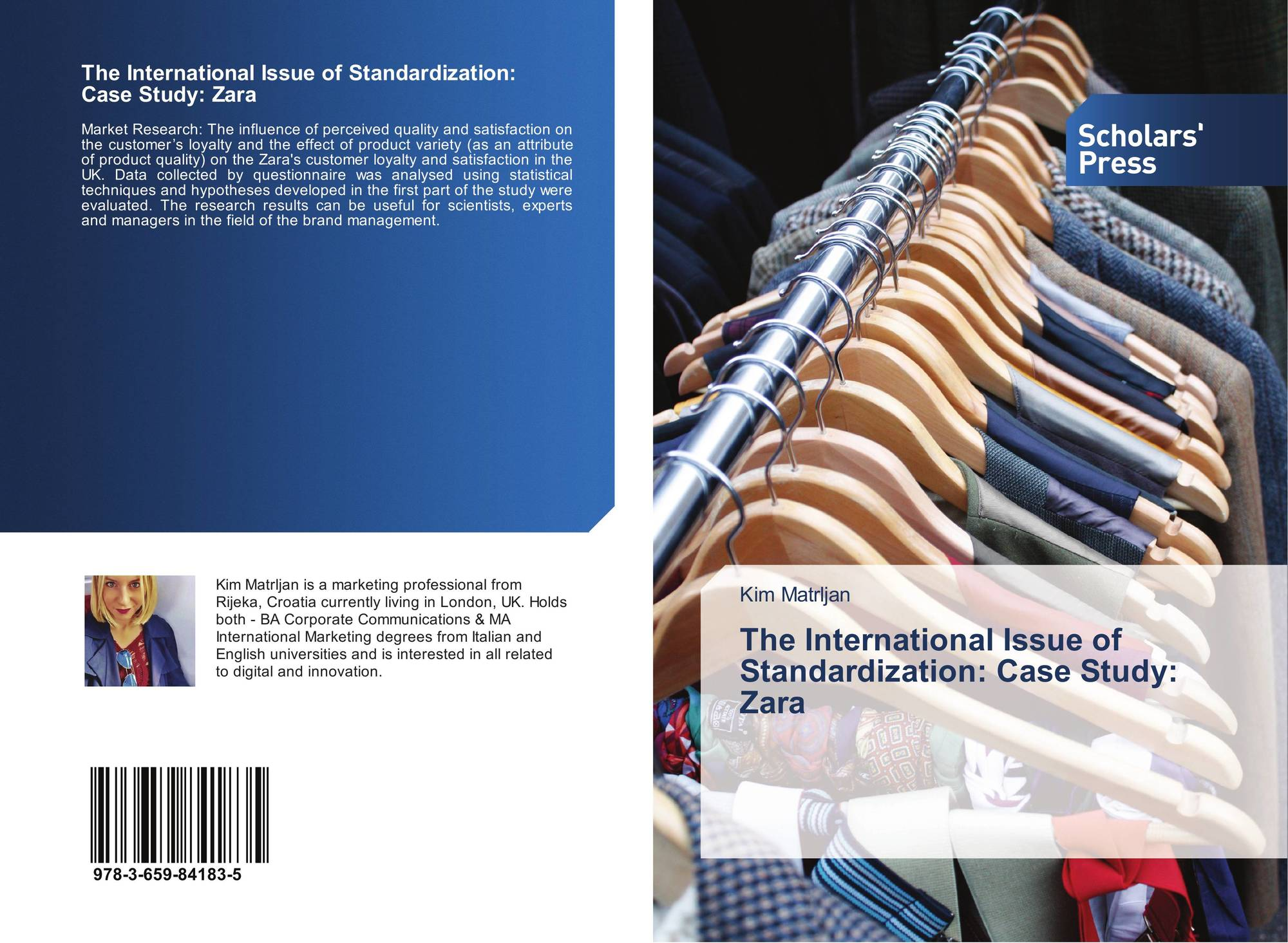 welcome to  bookcover of the international issue of standardization case study zara