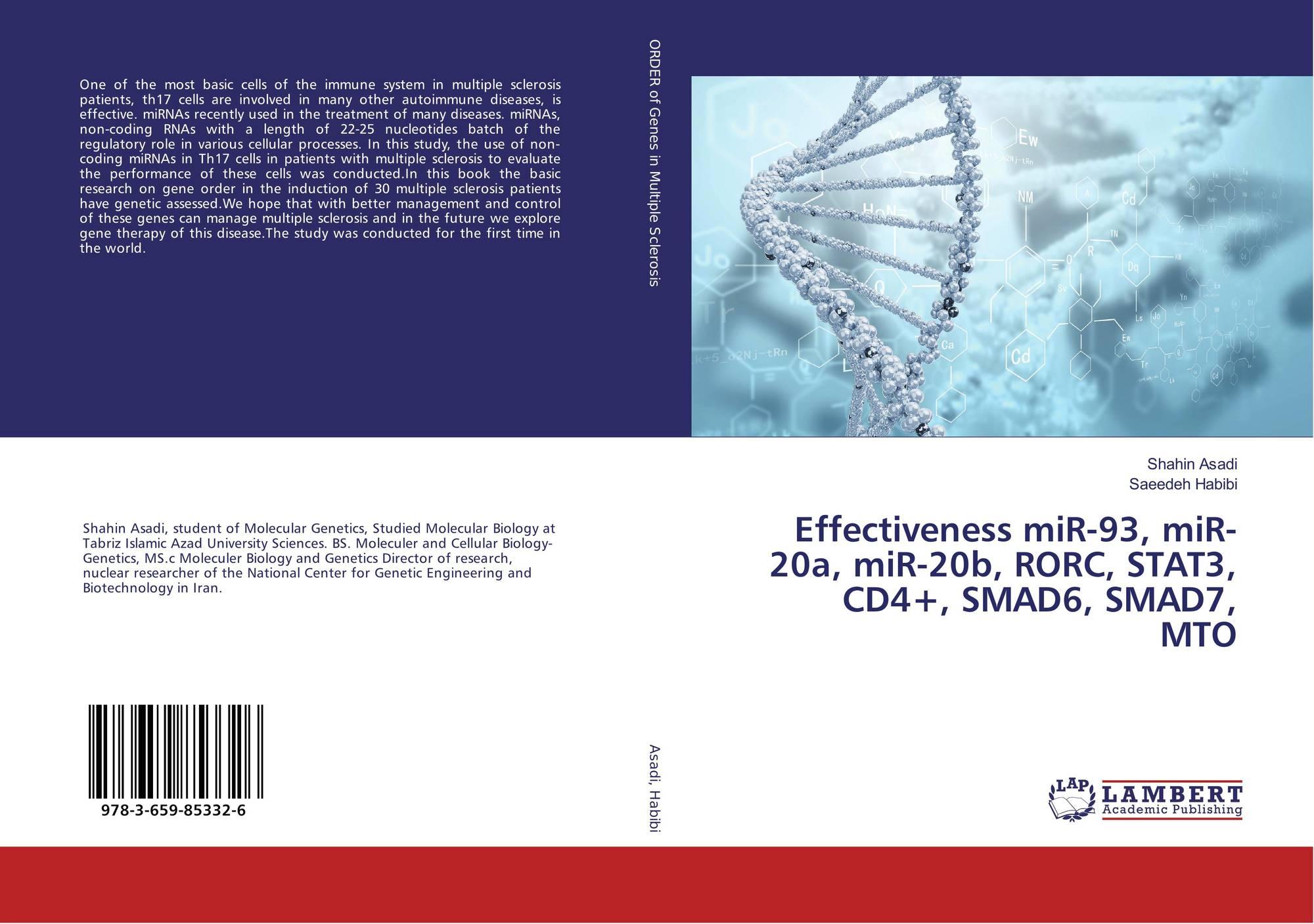 Bookcover of Effectiveness miR-93, miR-20a, miR-20b, RORC