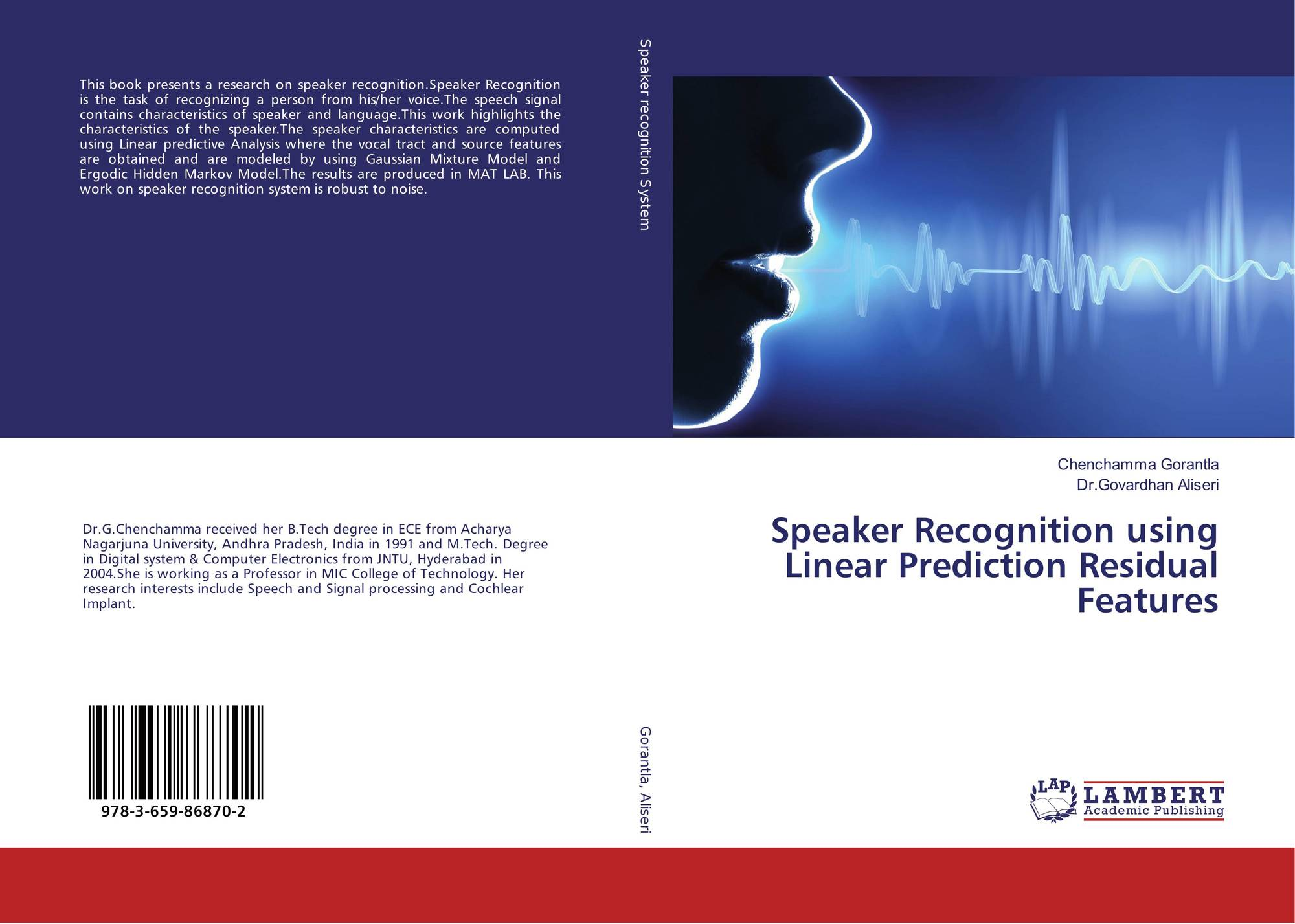 Speaker Recognition using Linear Prediction Residual Features, 978-3