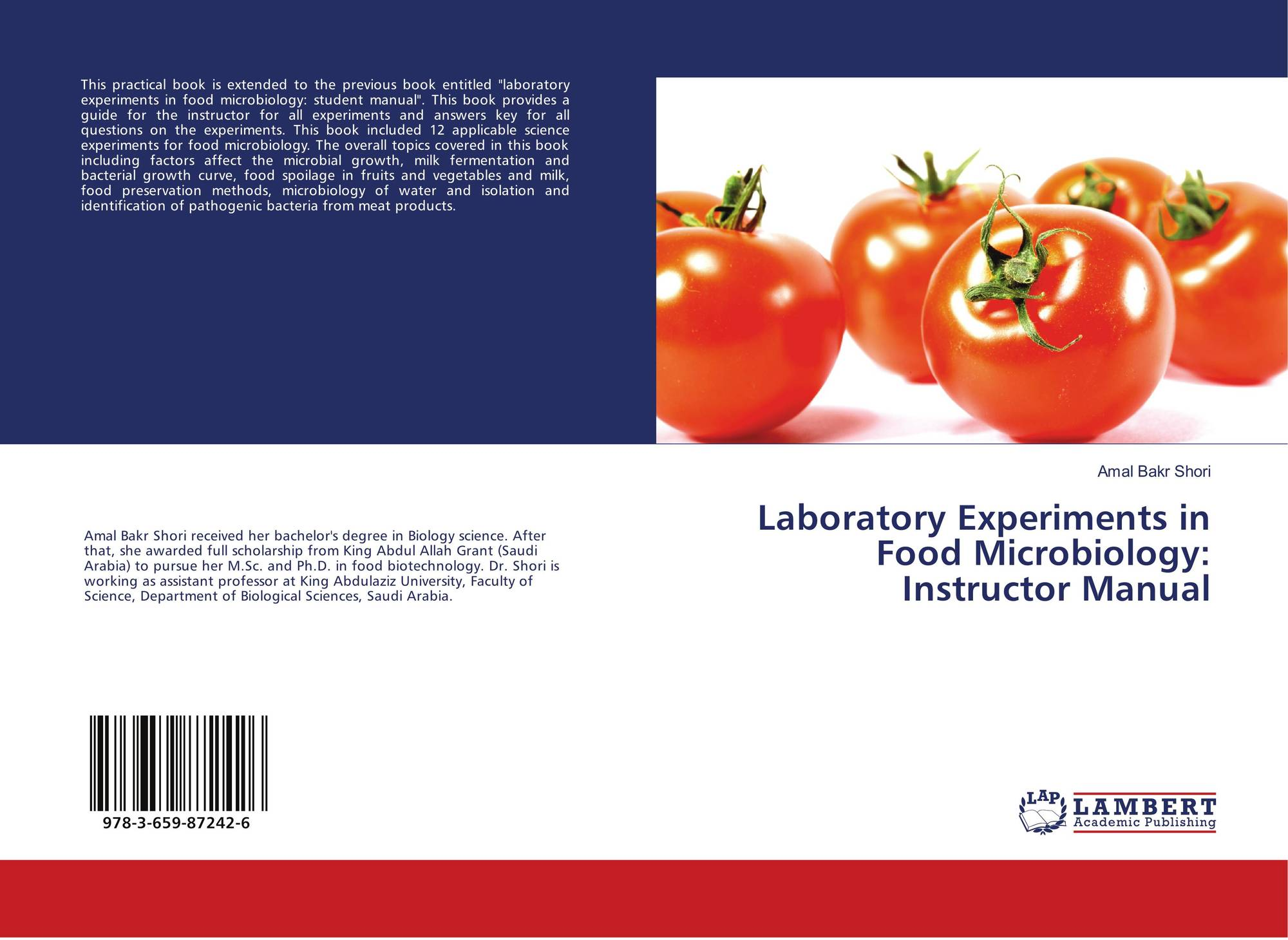 Bookcover of Laboratory Experiments in Food Microbiology: Instructor Manual.  9783659872426