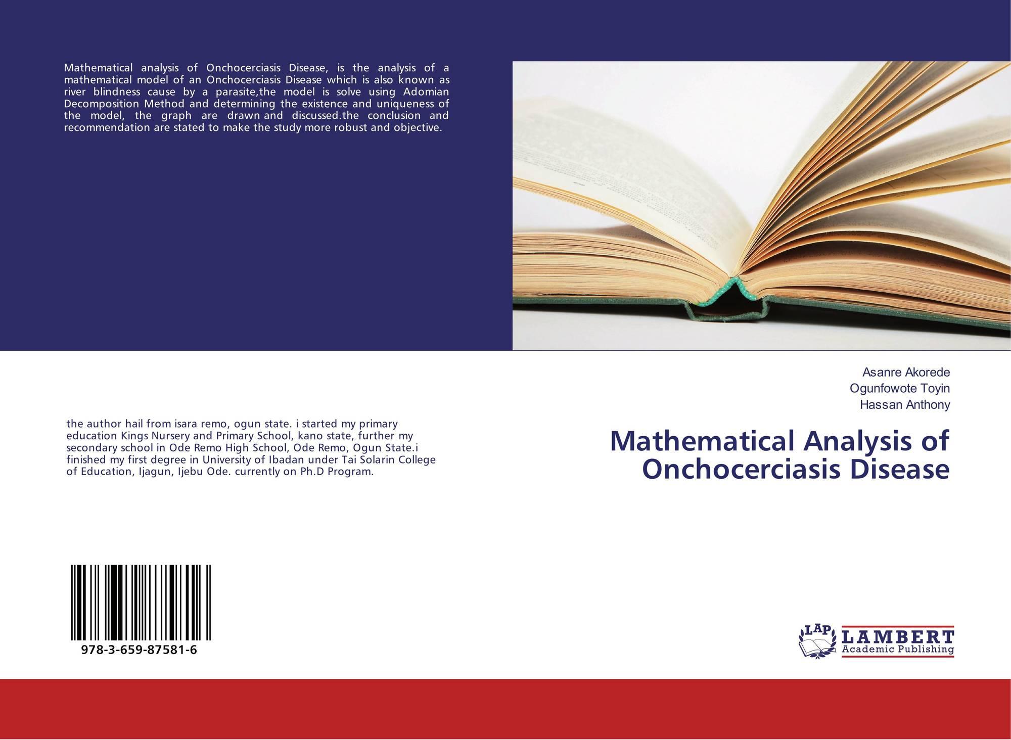 Mathematical Analysis of Onchocerciasis Disease, 978-3-659-87581-6