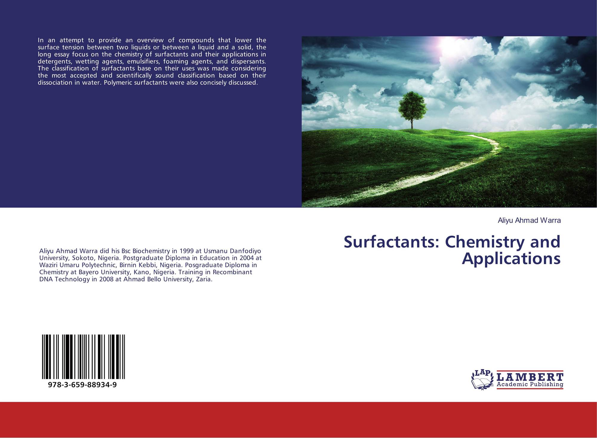 Surfactants: Chemistry and Applications, 978-3-659-88934-9
