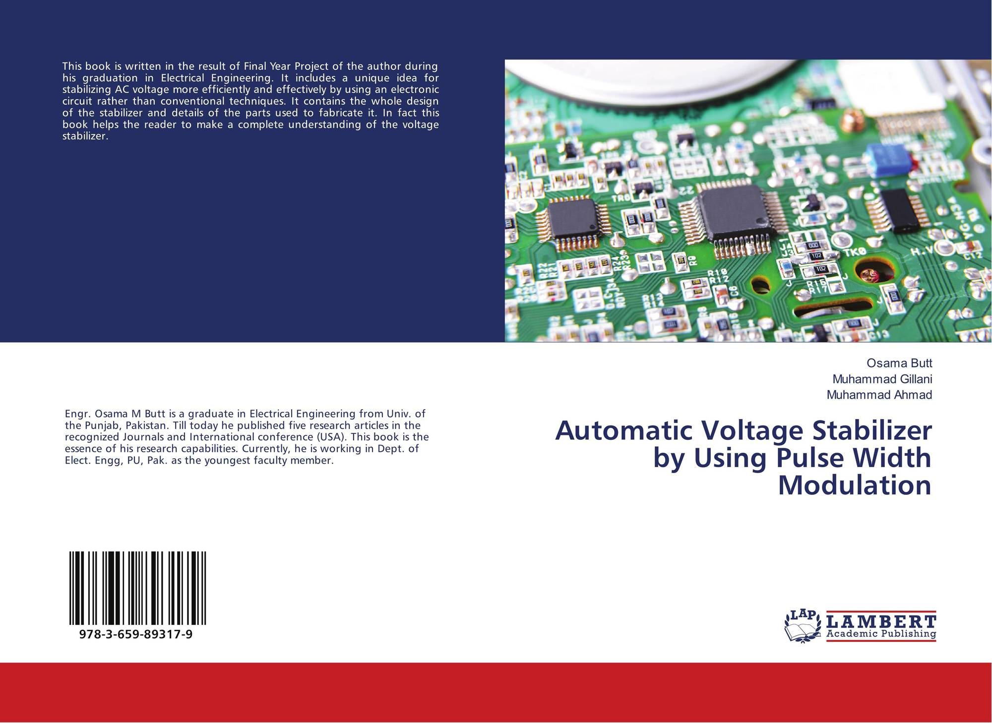 Search Results For Osama Al Saffar Understanding Electronic Circuit Bookcover Of Automatic Voltage Stabilizer By Using Pulse Width Modulation