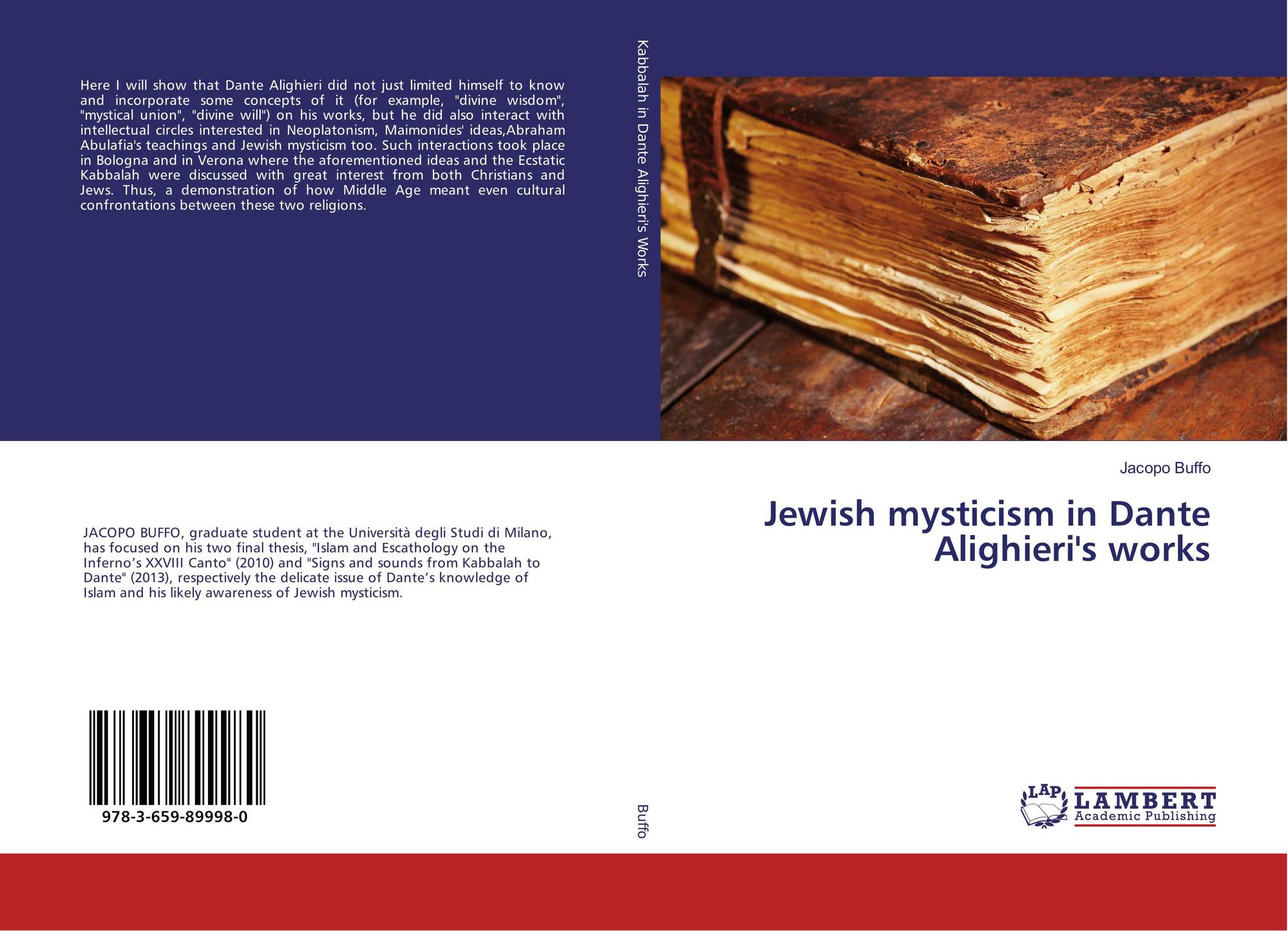 Jewish mysticism in Dante Alighieri's works, 978-3-659-89998