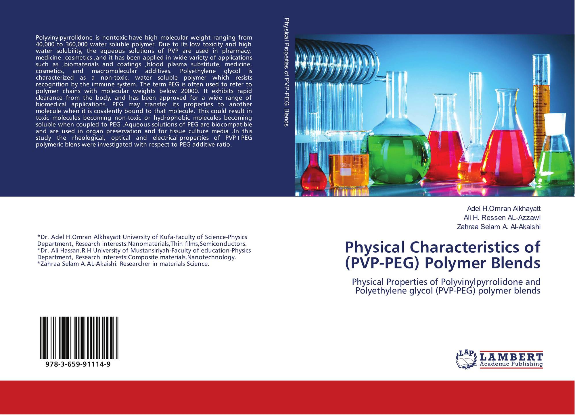 Physical Characteristics of (PVP-PEG) Polymer Blends, 978-3-659