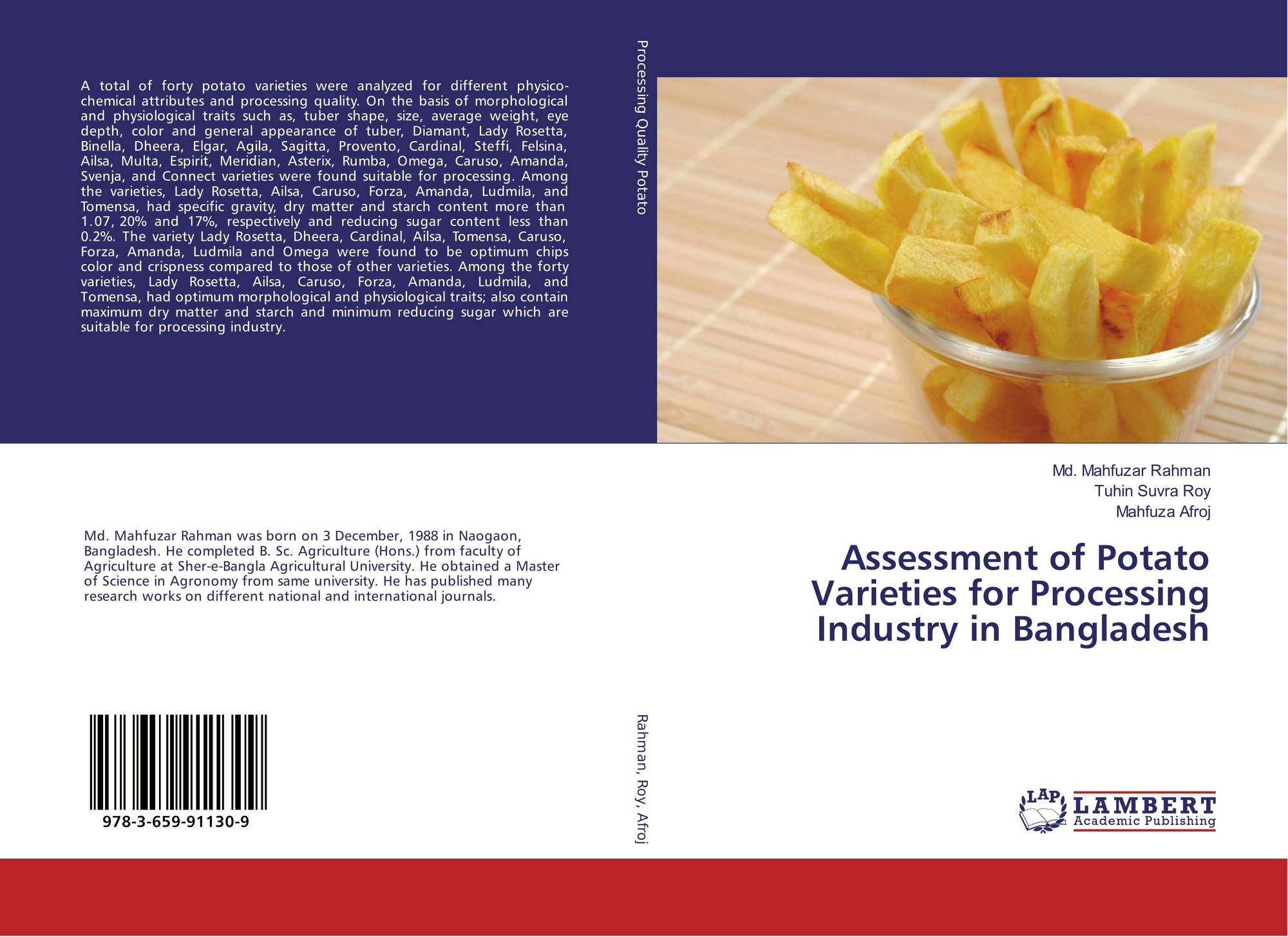 Assessment of Potato Varieties for Processing Industry in Bangladesh