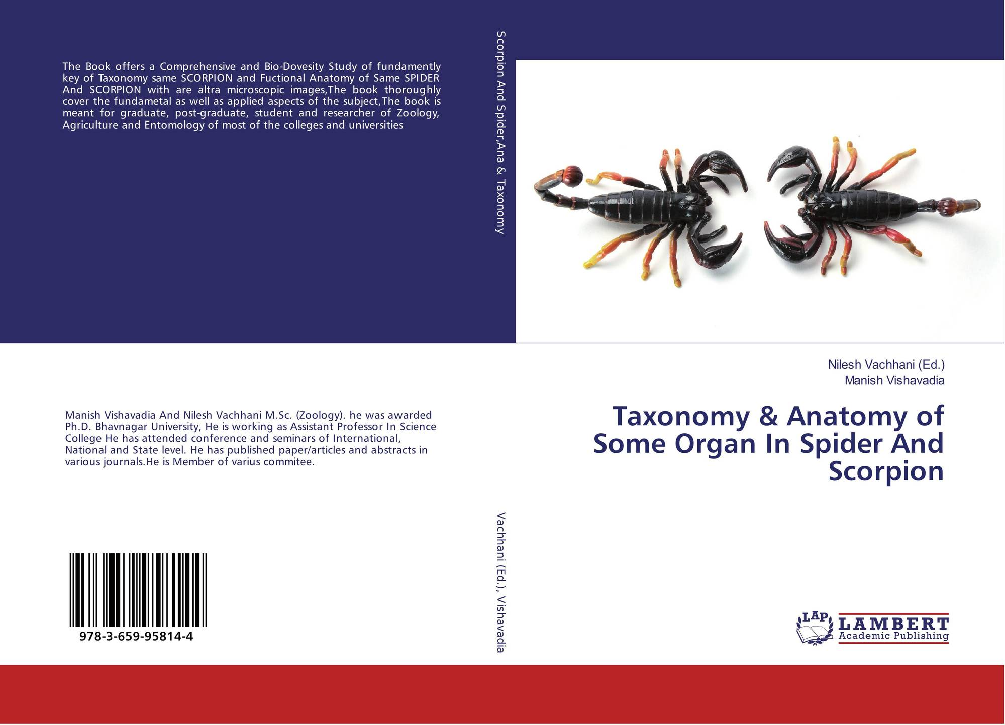 Taxonomy & Anatomy of Some Organ In Spider And Scorpion, 978-3-659 ...