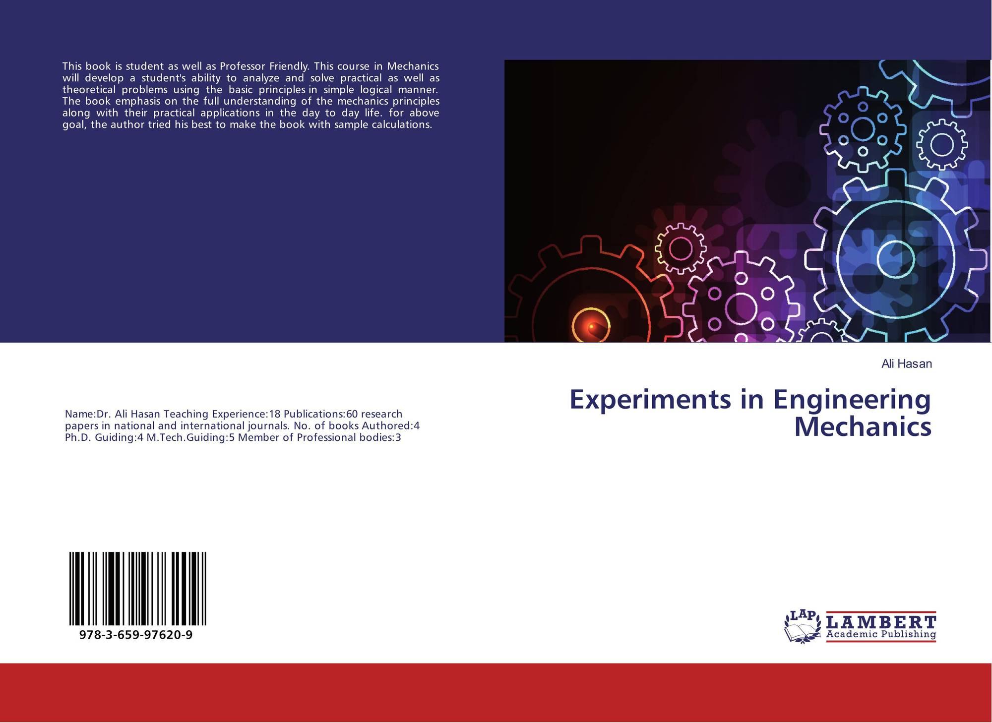 Experiments in Engineering Mechanics, 978-3-659-97620-9