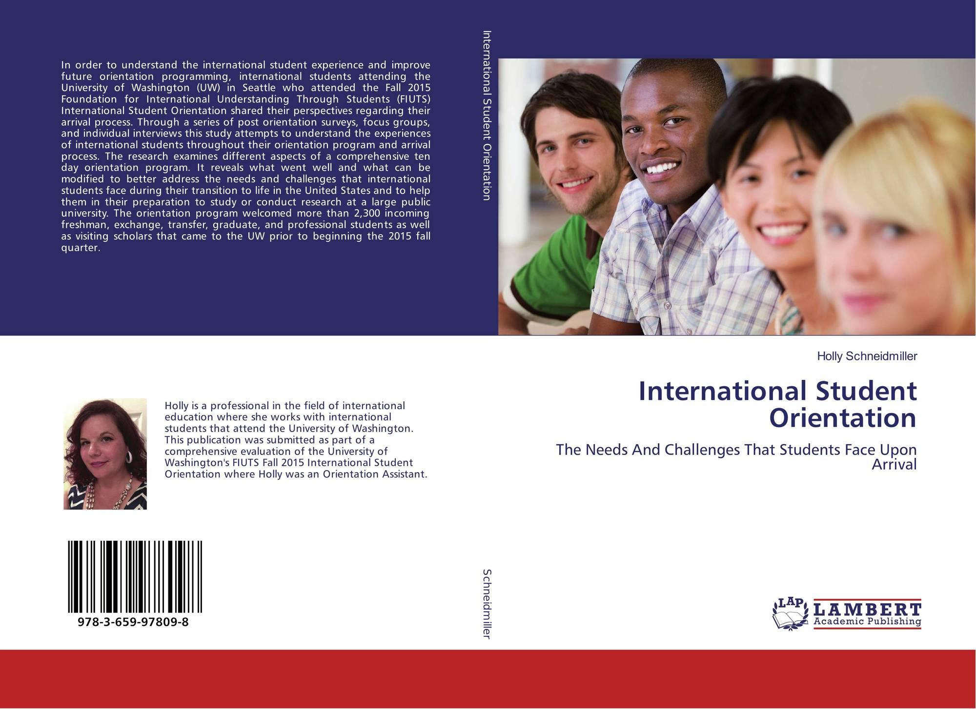 International Student Orientation / 978-3-659-97809-8 / 9783659978098 / 3659978094