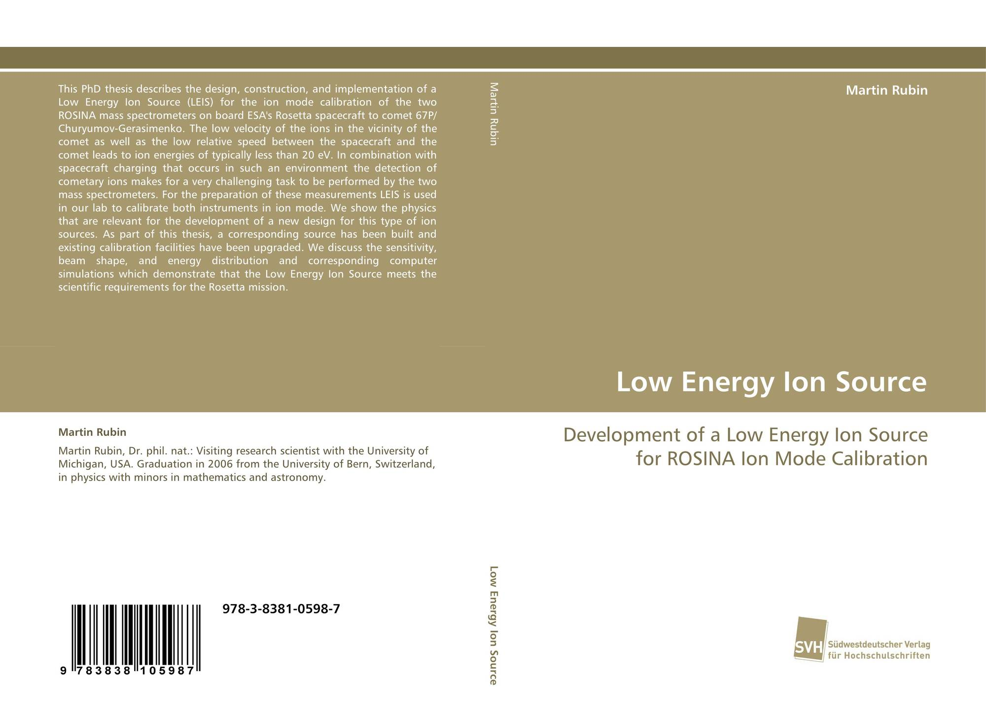 Bookcover of Low Energy Ion Source
