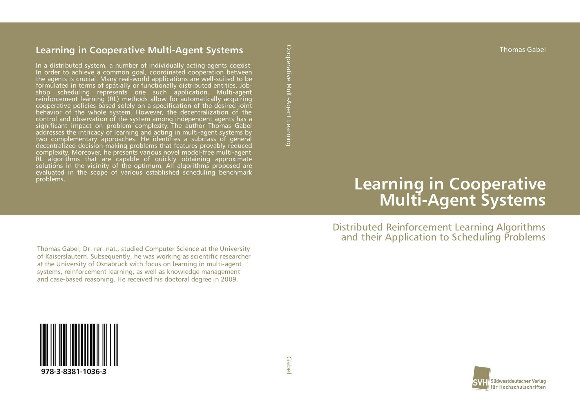 Learning in Cooperative Multi-Agent Systems, 978-3-8381-1036