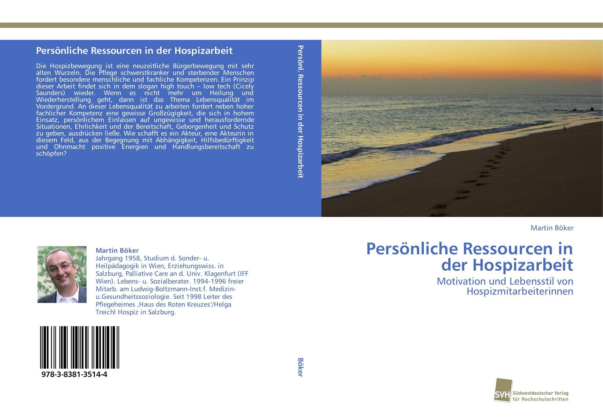 Persönliche Ressourcen in der Hospizarbeit, 978-3-8381 ...