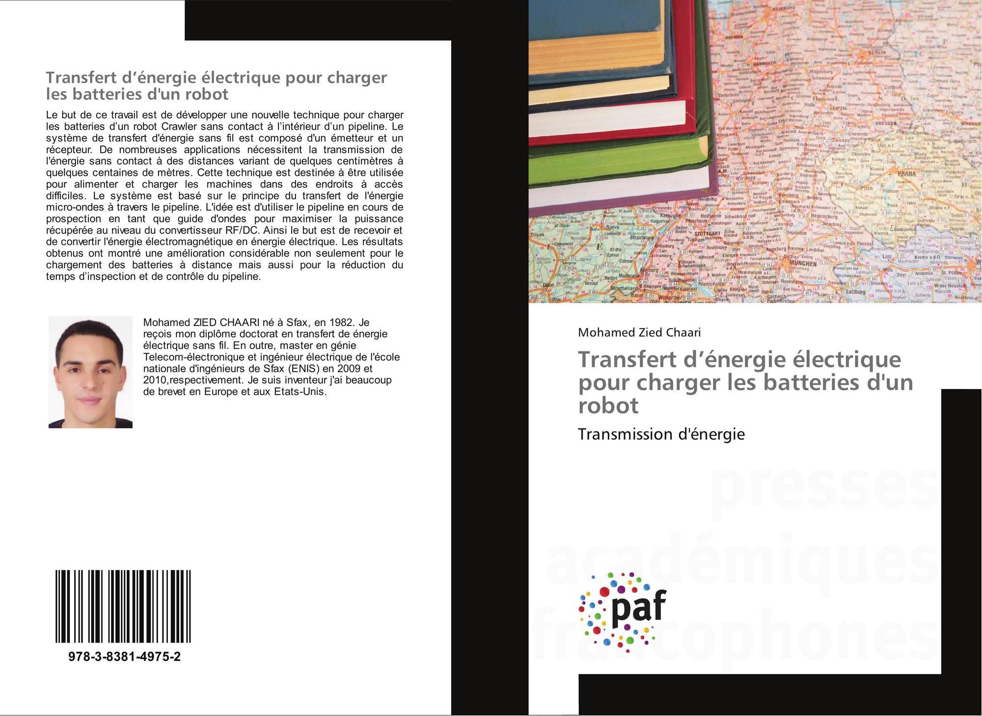transfert d nergie lectrique pour charger les batteries d 39 un robot 978 3 8381 4975 2. Black Bedroom Furniture Sets. Home Design Ideas