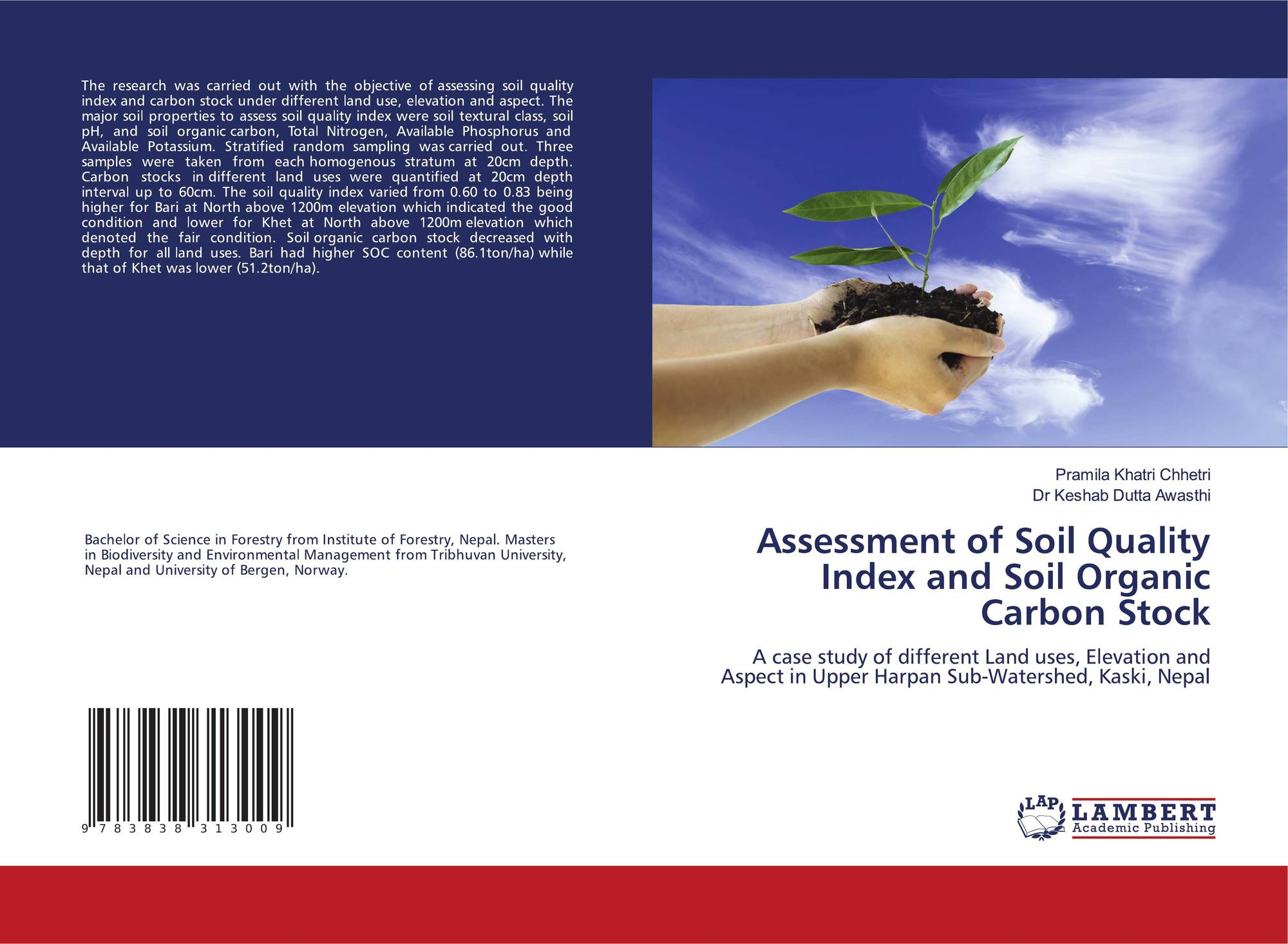 Assessment of soil quality index and soil organic carbon for Uses of soil in english