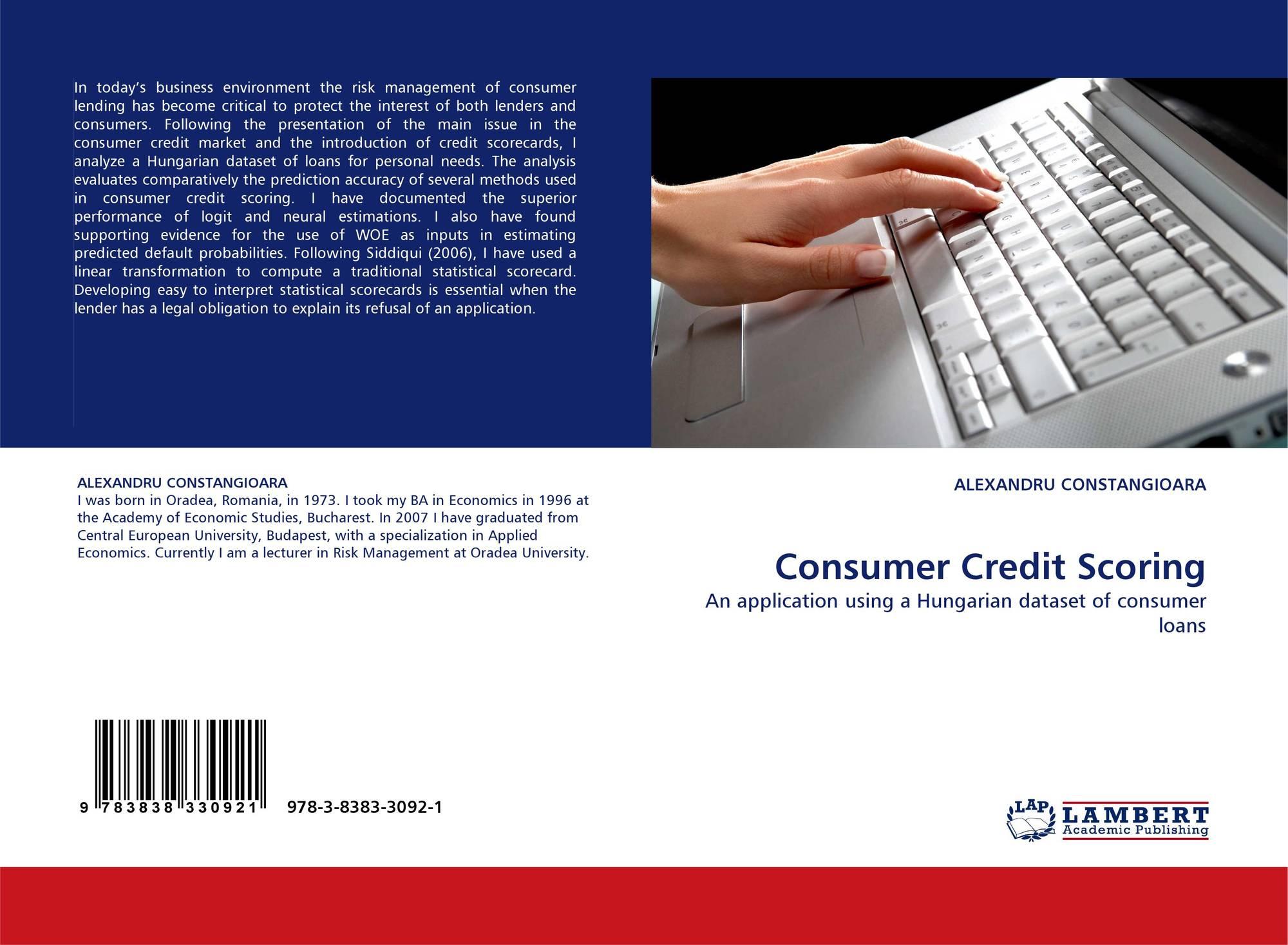 Consumer Credit Scoring, 978-3-8383-3092-1, 3838330927