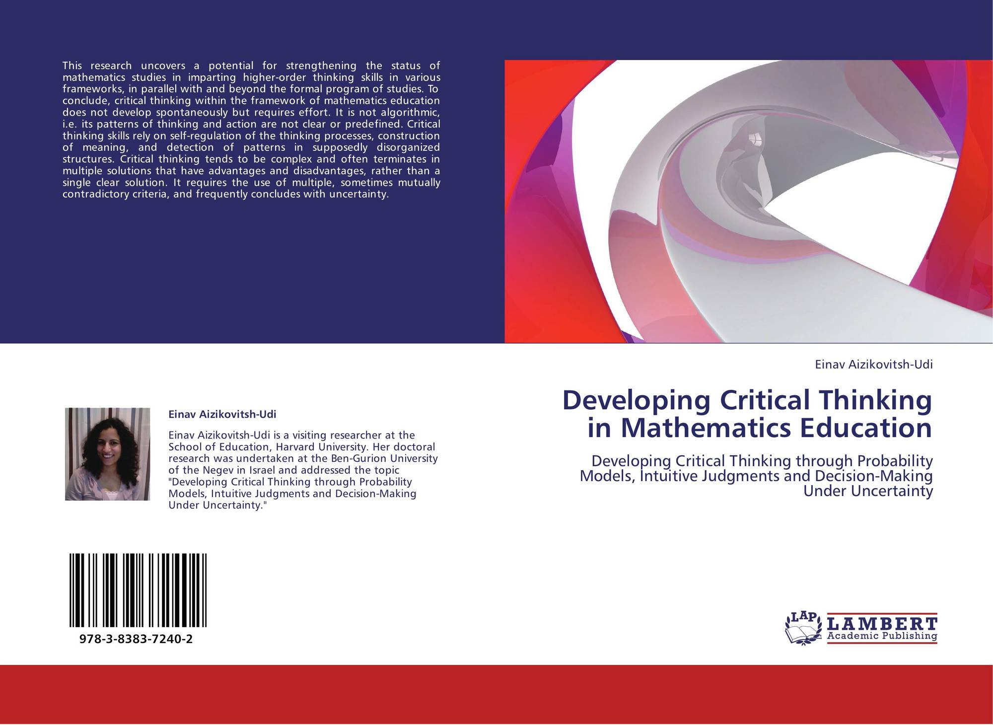 developing critical thinking mathematics Developing critical thinking in elementary mathematics education through a suitable selection of content and overall student performance .