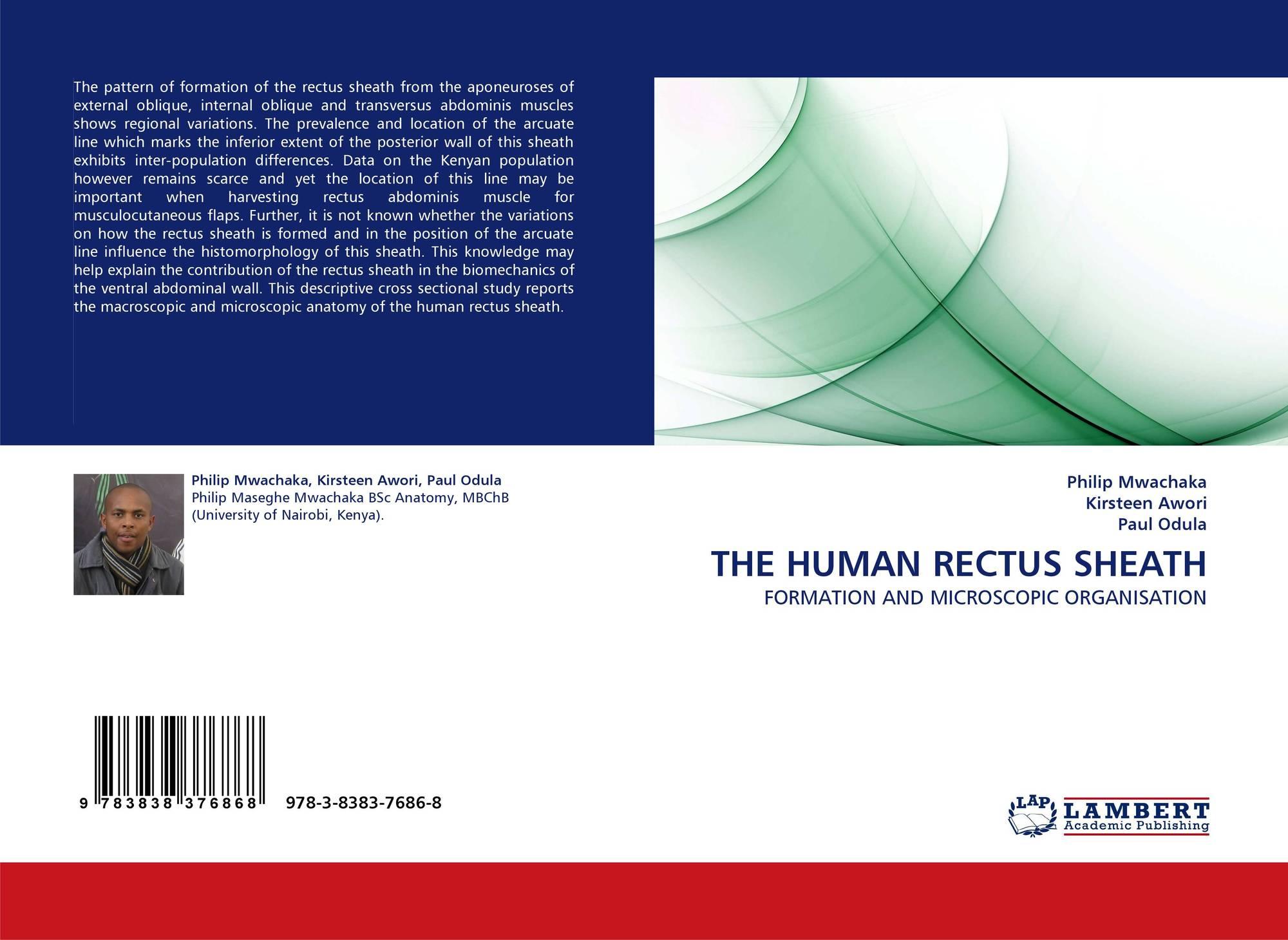 THE HUMAN RECTUS SHEATH, 978-3-8383-7686-8, 3838376862 ...