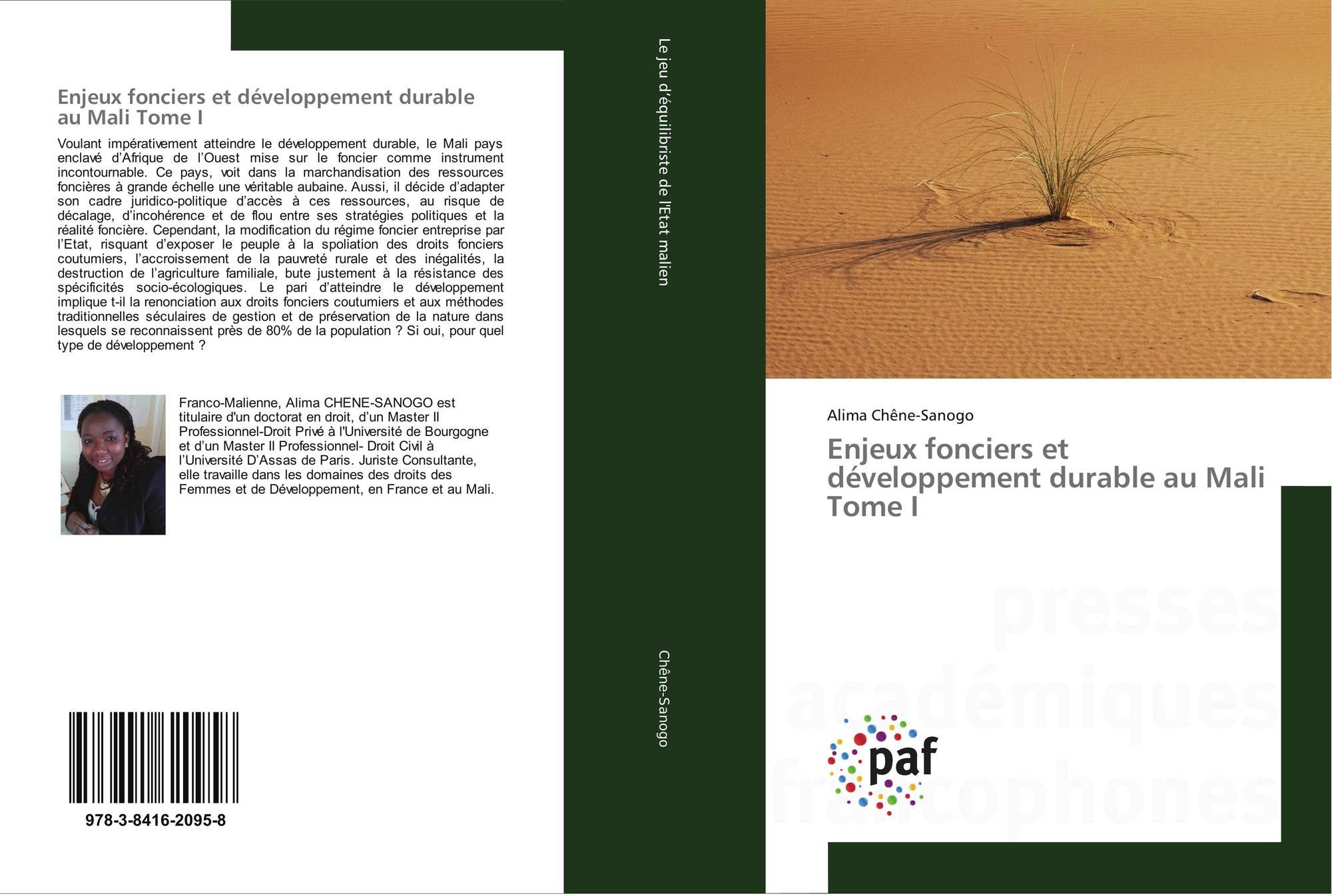 Enjeux fonciers et développement durable au Mali Tome I