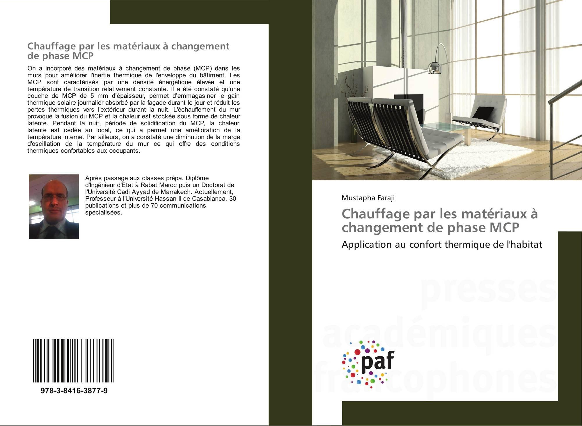 chauffage par les mat riaux changement de phase mcp 978 3 8416 3877 9 3841638775. Black Bedroom Furniture Sets. Home Design Ideas