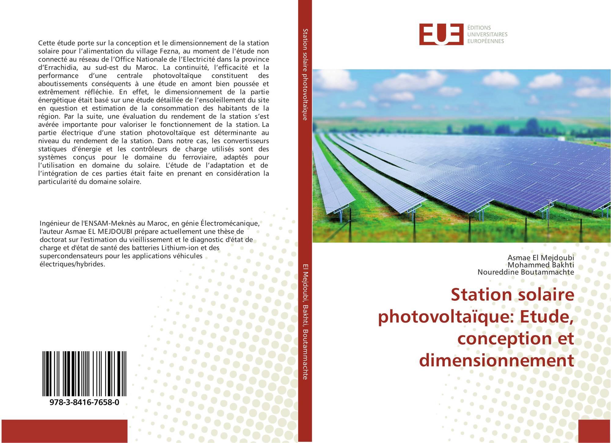 Station solaire photovolta que etude conception et for Etude de conception