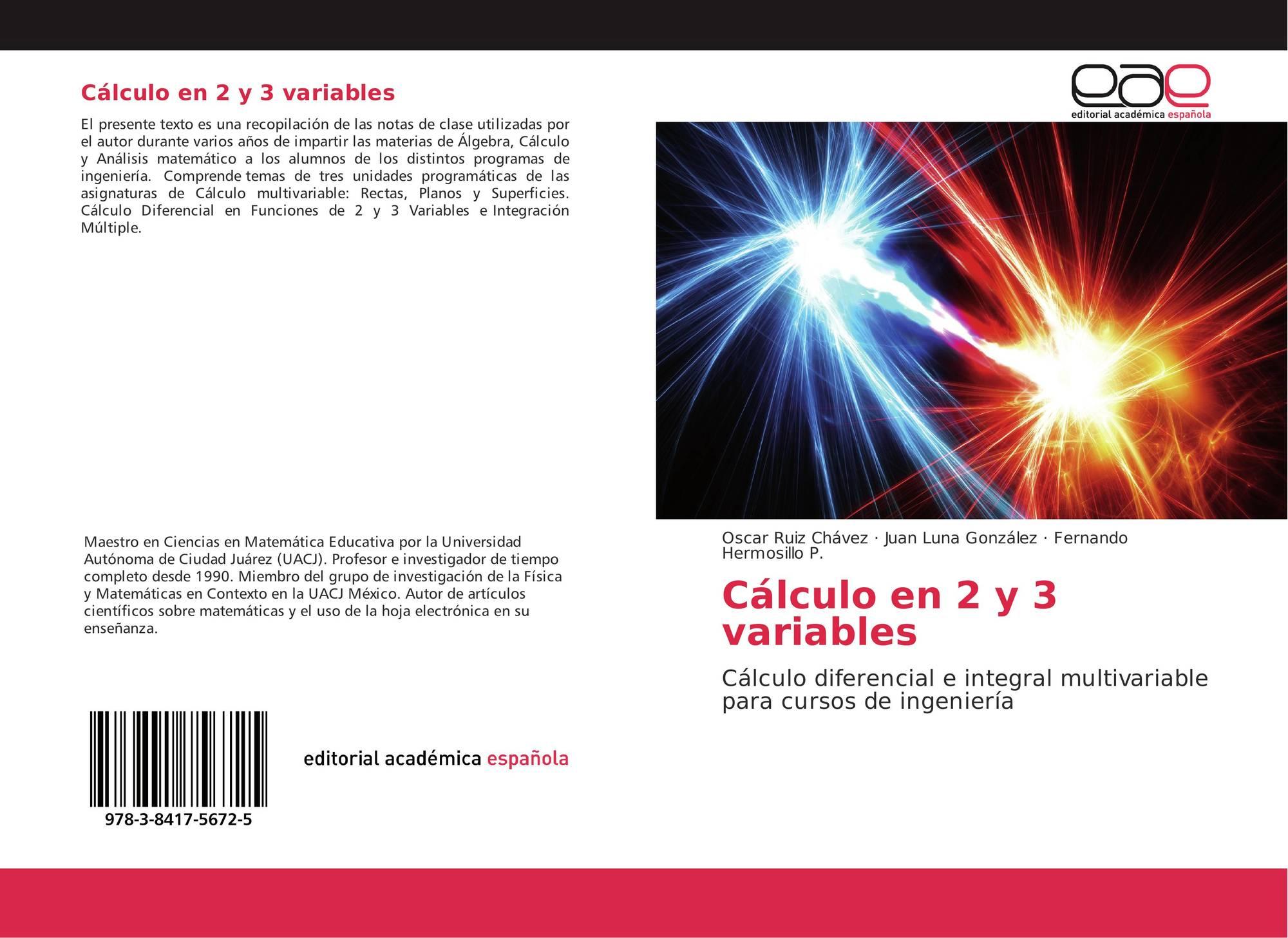 Cálculo en 2 y 3 variables, 978-3-8417-5672-5, 3841756727 ...