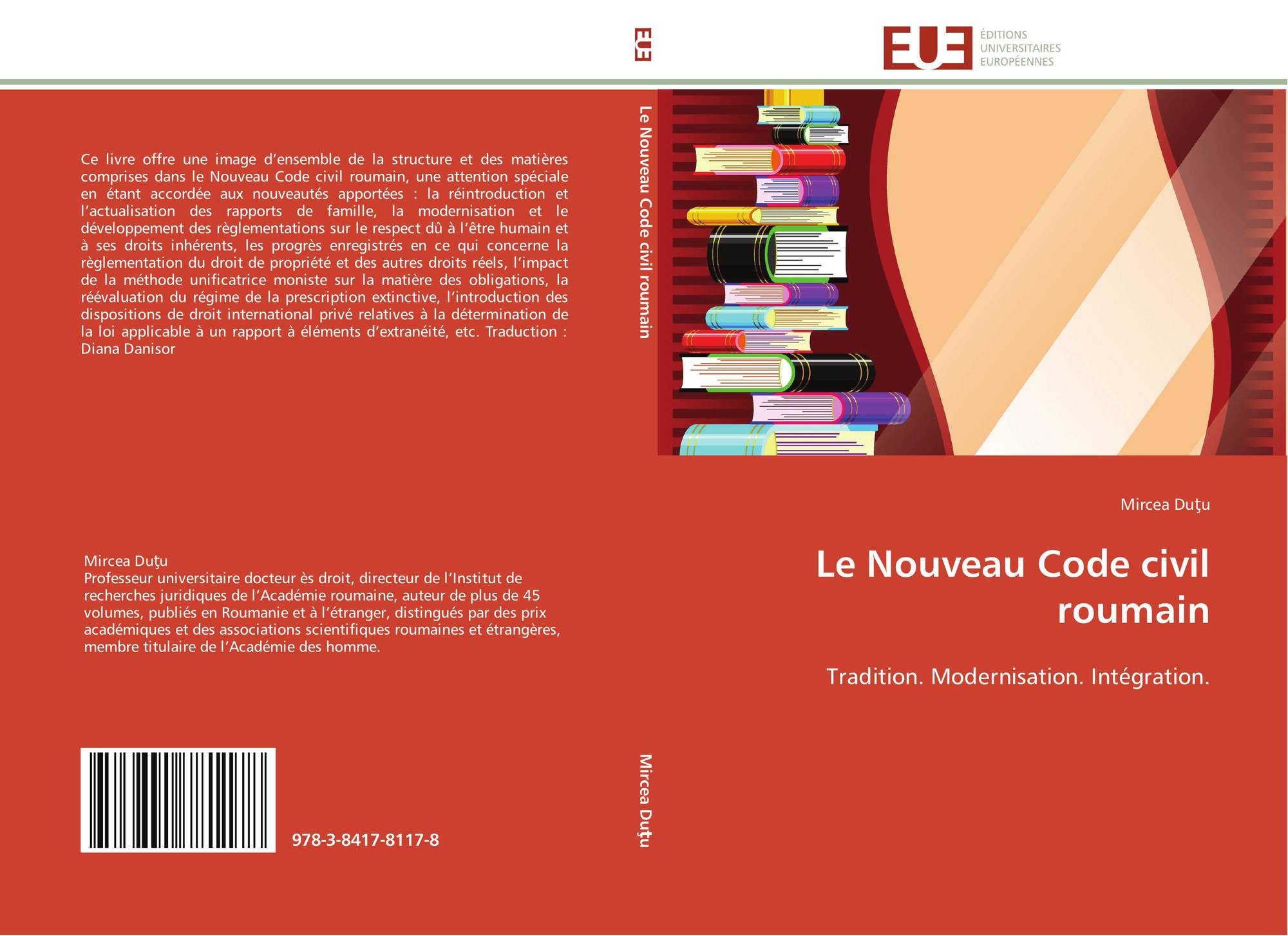 Le nouveau code civil roumain 978 3 8417 8117 8 3841781179 9783841781178 d - Prescription trentenaire code civil ...