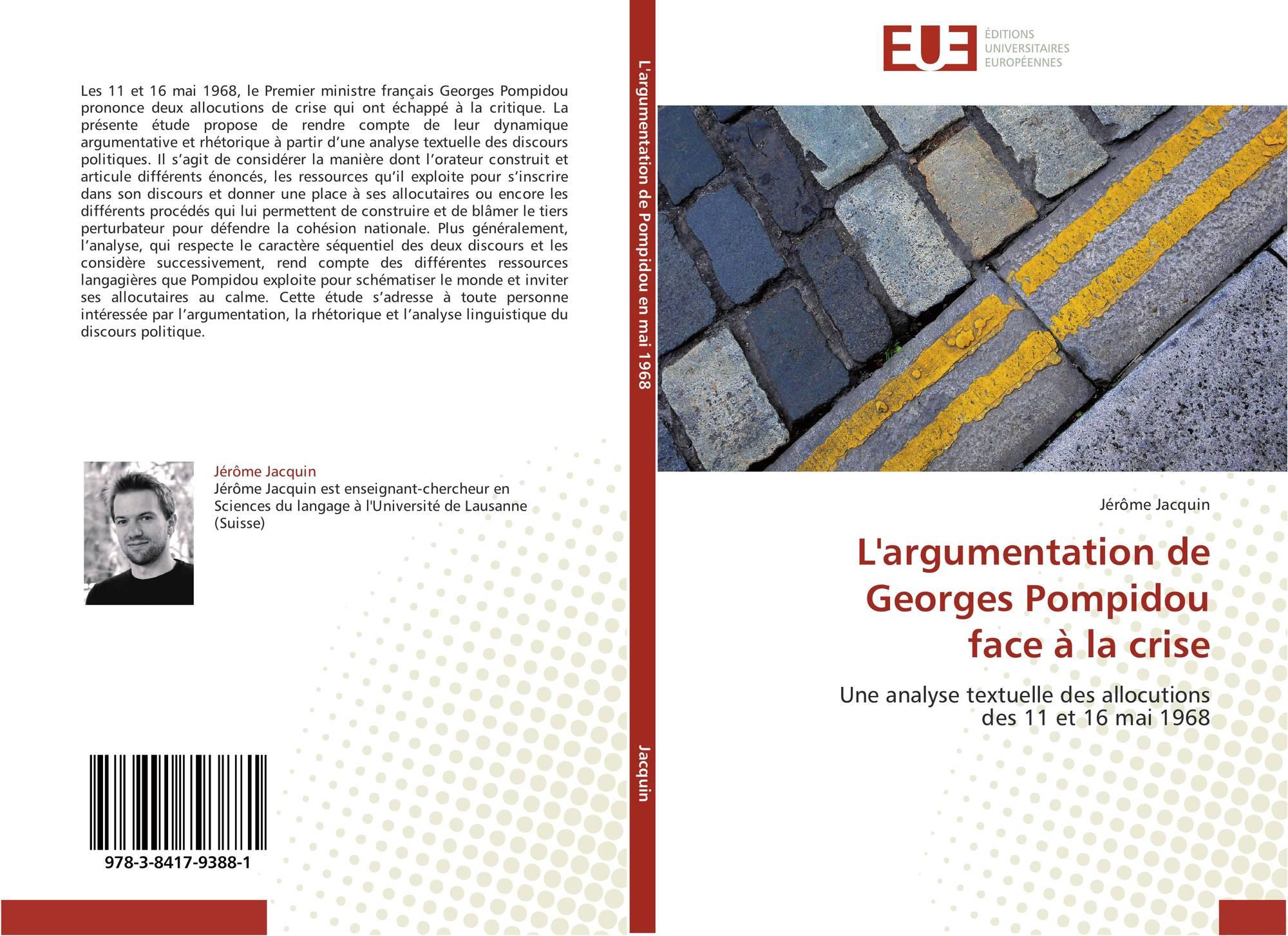 L'argumentation de Georges Pompidou  face à la crise