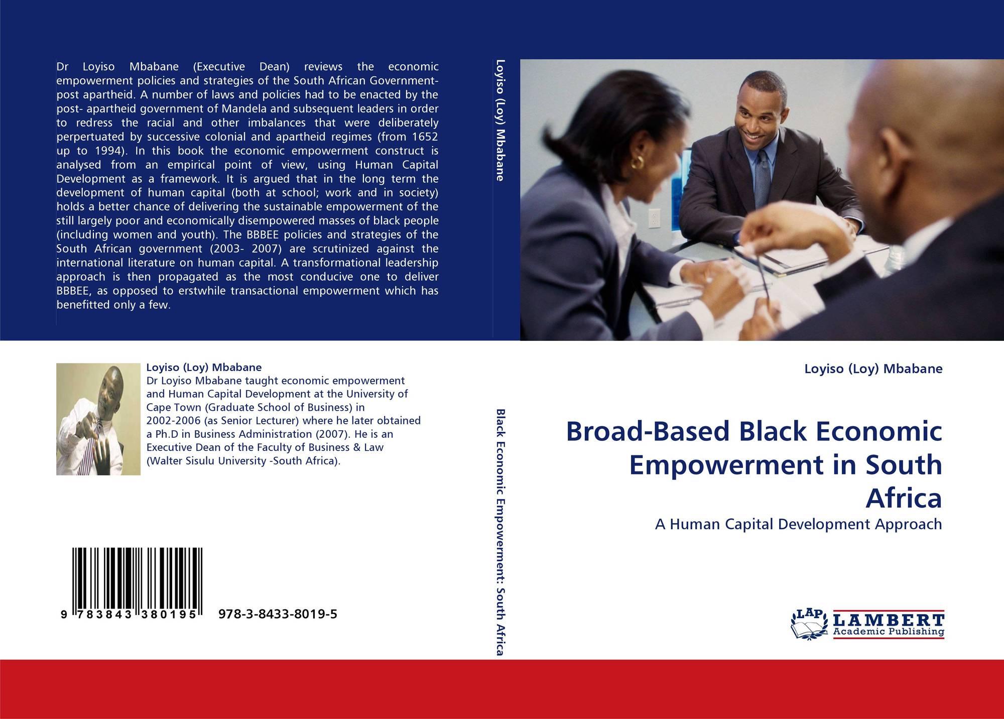 dissertation on black economic empowerment Duflo e (2011) women's empowerment and economic development, national bureau of economic research.