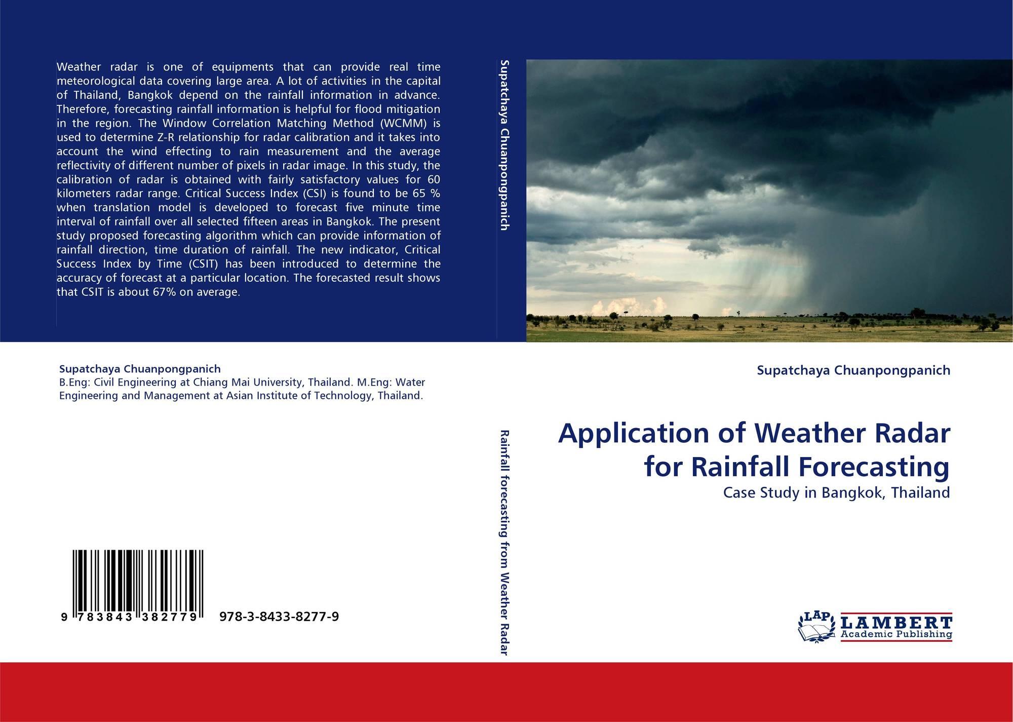 application of weather radar for rainfall forecasting 978 3 8433 8277 9 3843382778. Black Bedroom Furniture Sets. Home Design Ideas