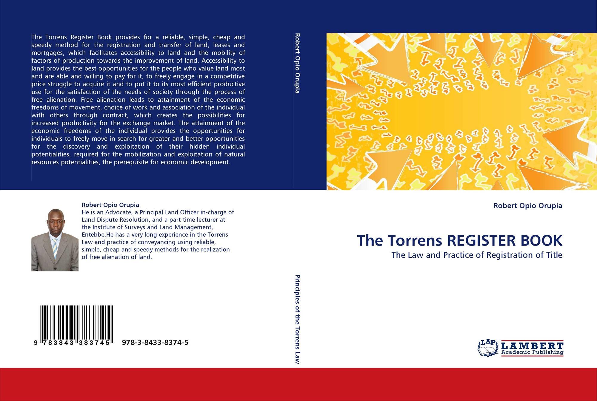 The Torrens REGISTER BOOK, 978-3-8433-8374-5, 384338374X