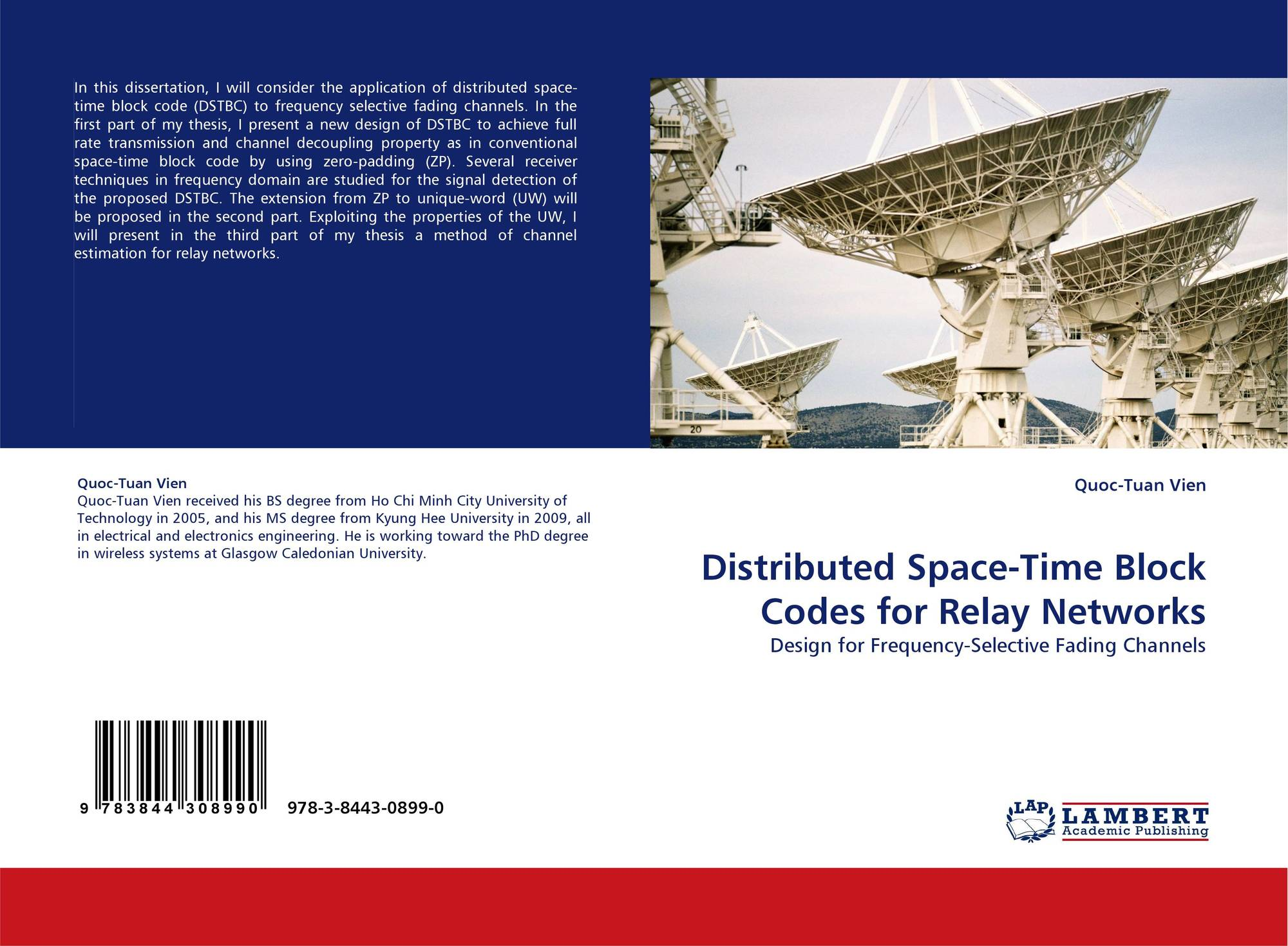 space time block coding thesis Space-time block and trellis coding schemes for single-band uwb communications systems 71 thesis summary.