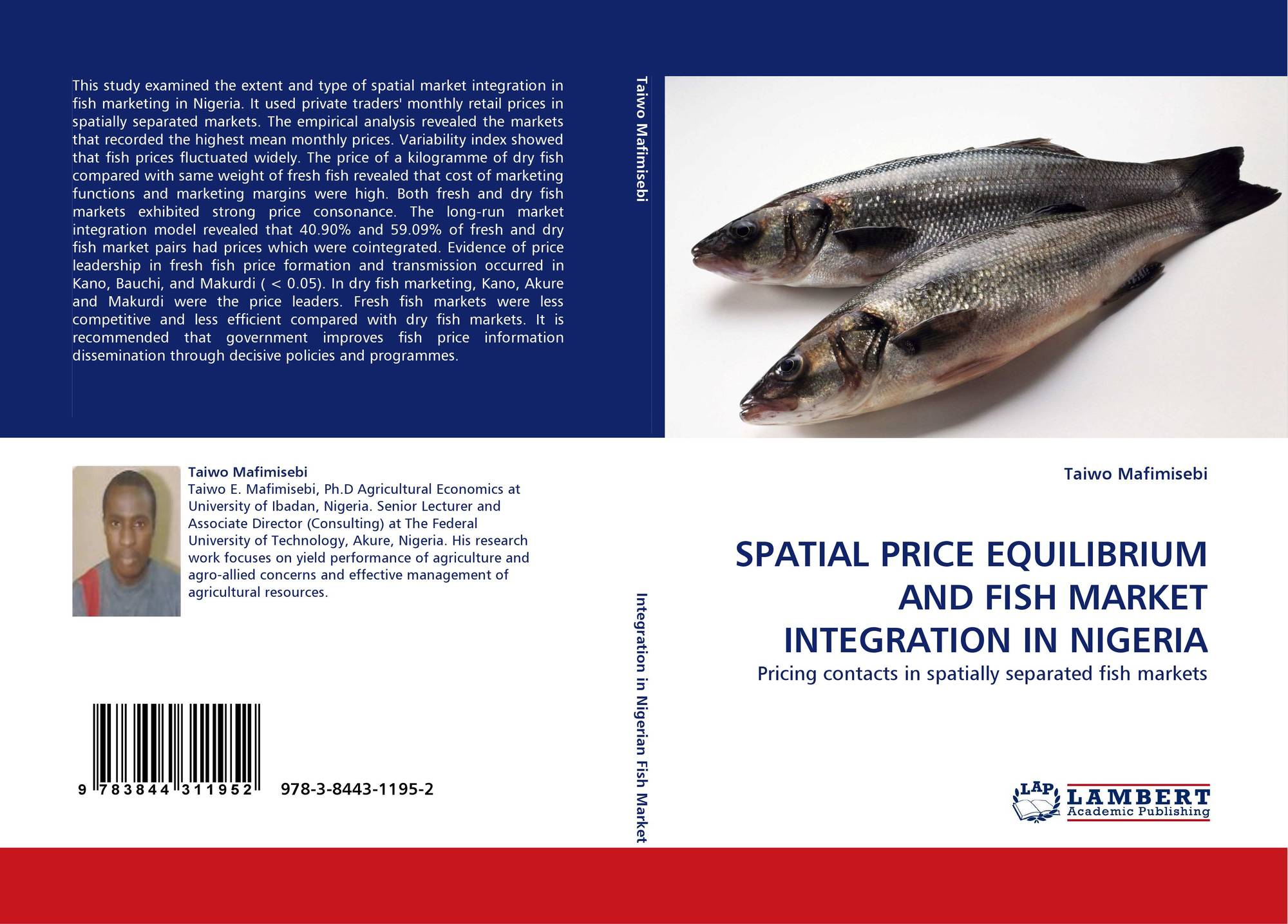 Spatial price equilibrium and fish market integration in for Fish market prices