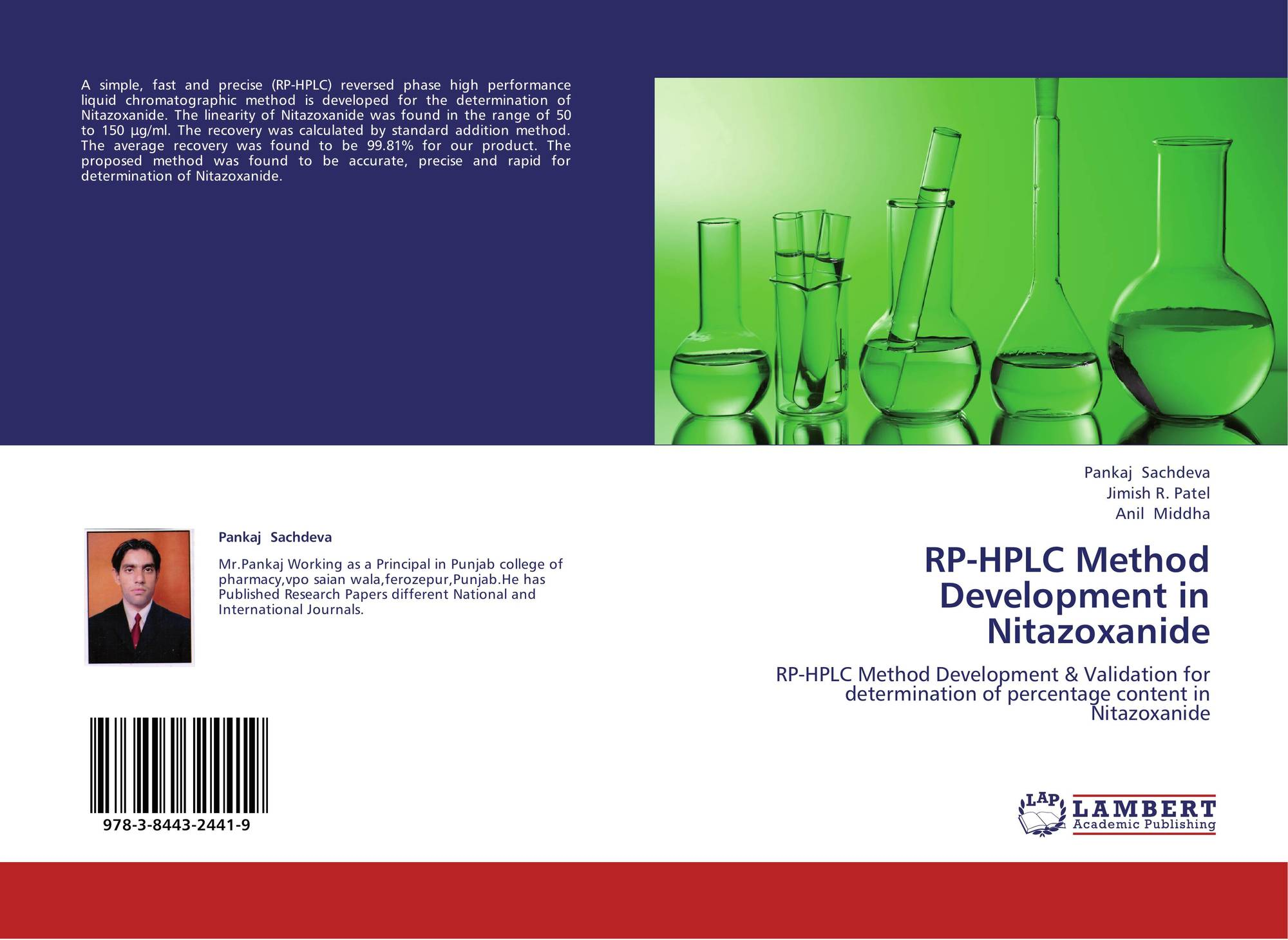 RP-HPLC Method Development in Nitazoxanide, 978-3-8443-2441