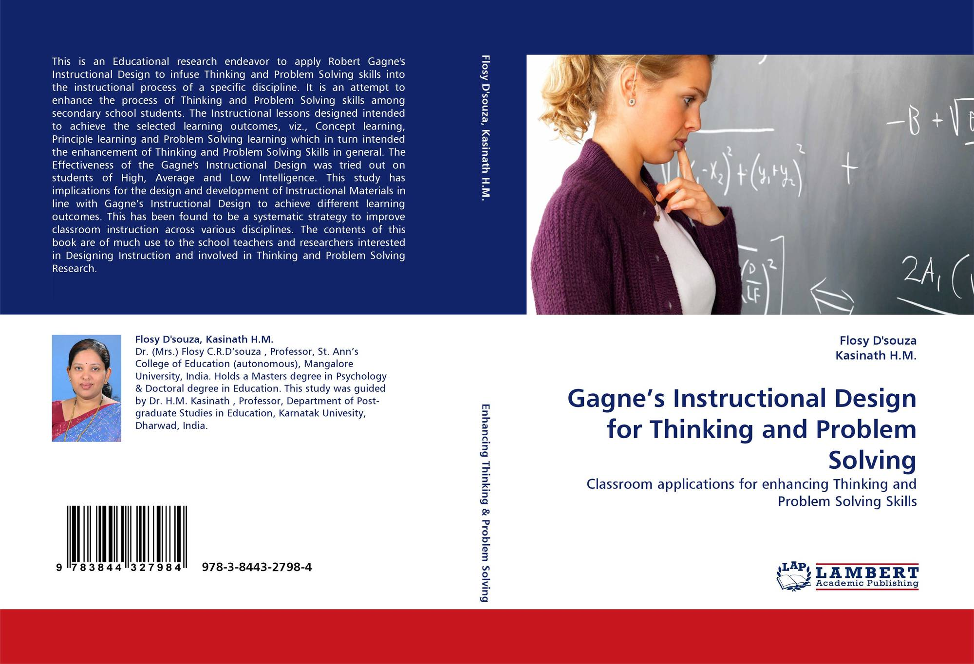 Gagne S Instructional Design For Thinking And Problem Solving 978 3 8443 2798 4 3844327983 9783844327984 By Flosy D Souza Kasinath H M