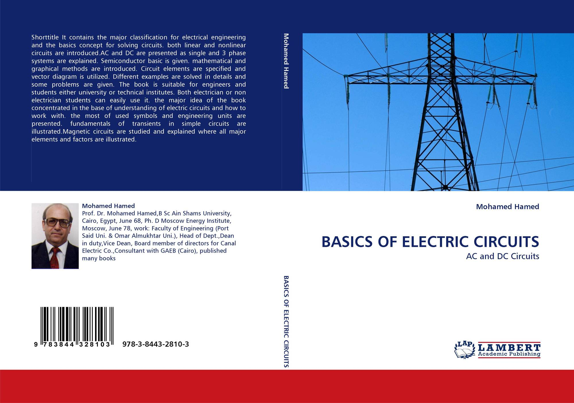 Basics Of Electric Circuits 978 3 8443 2810 3844328106 How Does Circuit Work Bookcover 9783844328103
