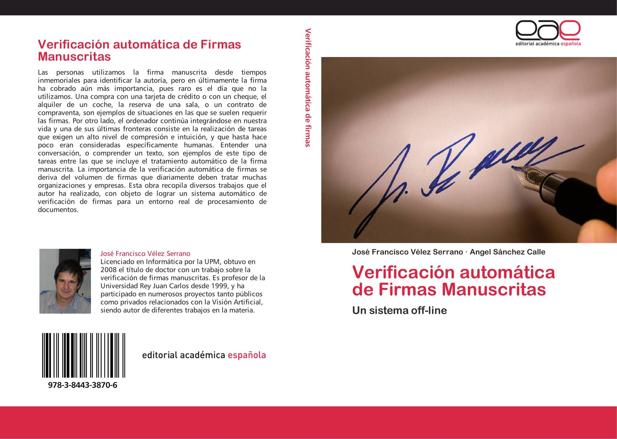 Verificación automática de Firmas Manuscritas, 978-3-8443-3870-6 ...