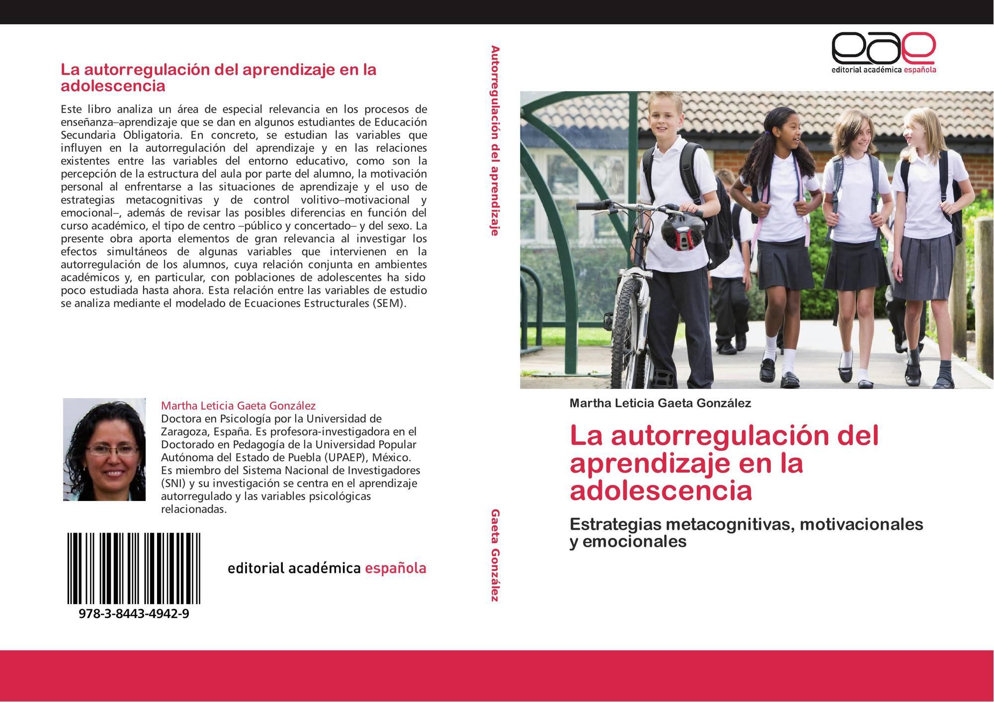 La Autorregulación Del Aprendizaje En La Adolescencia 978 3