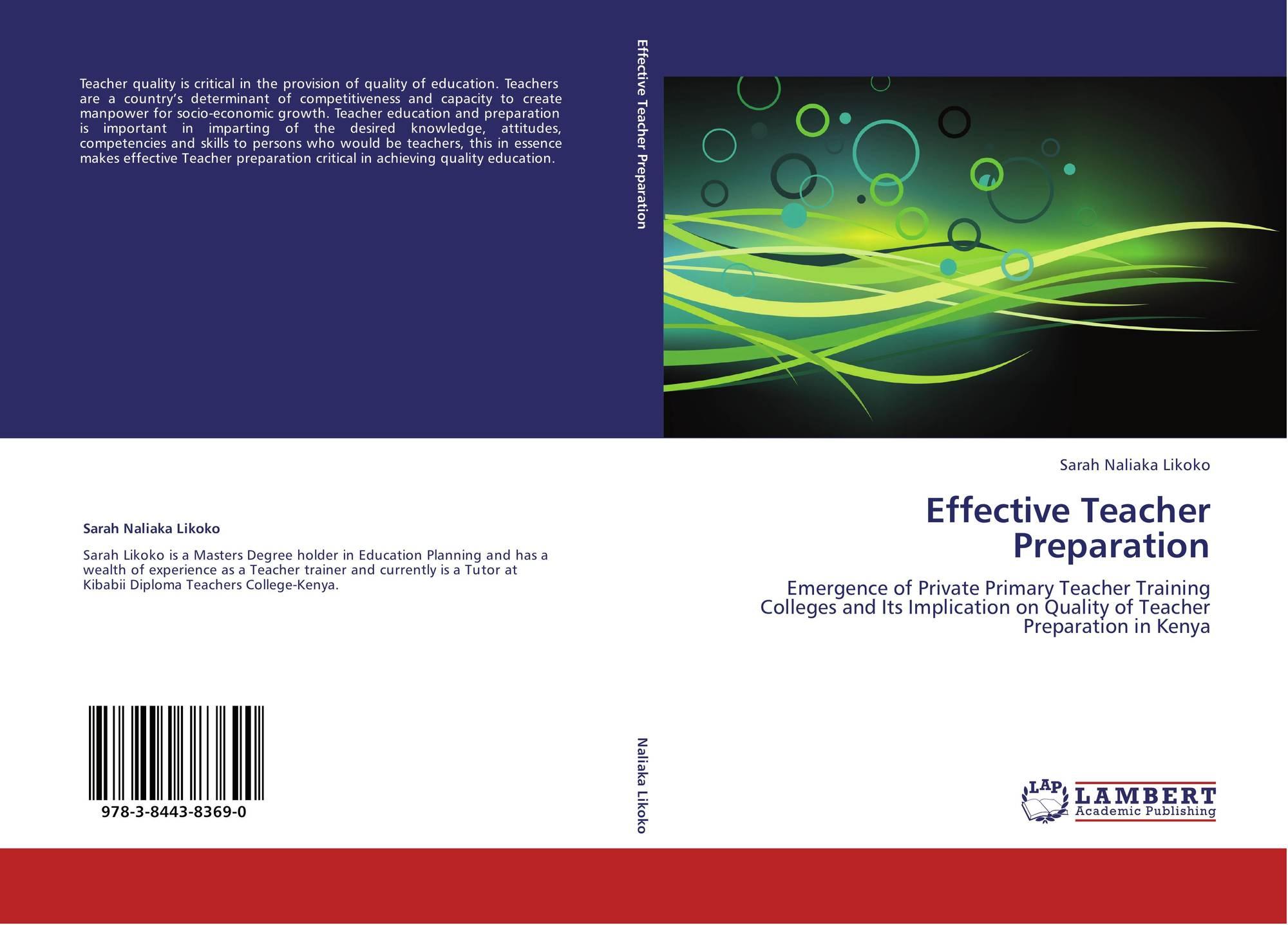 Effective Teacher Preparation, 978-3-8443-8369-0, 3844383697